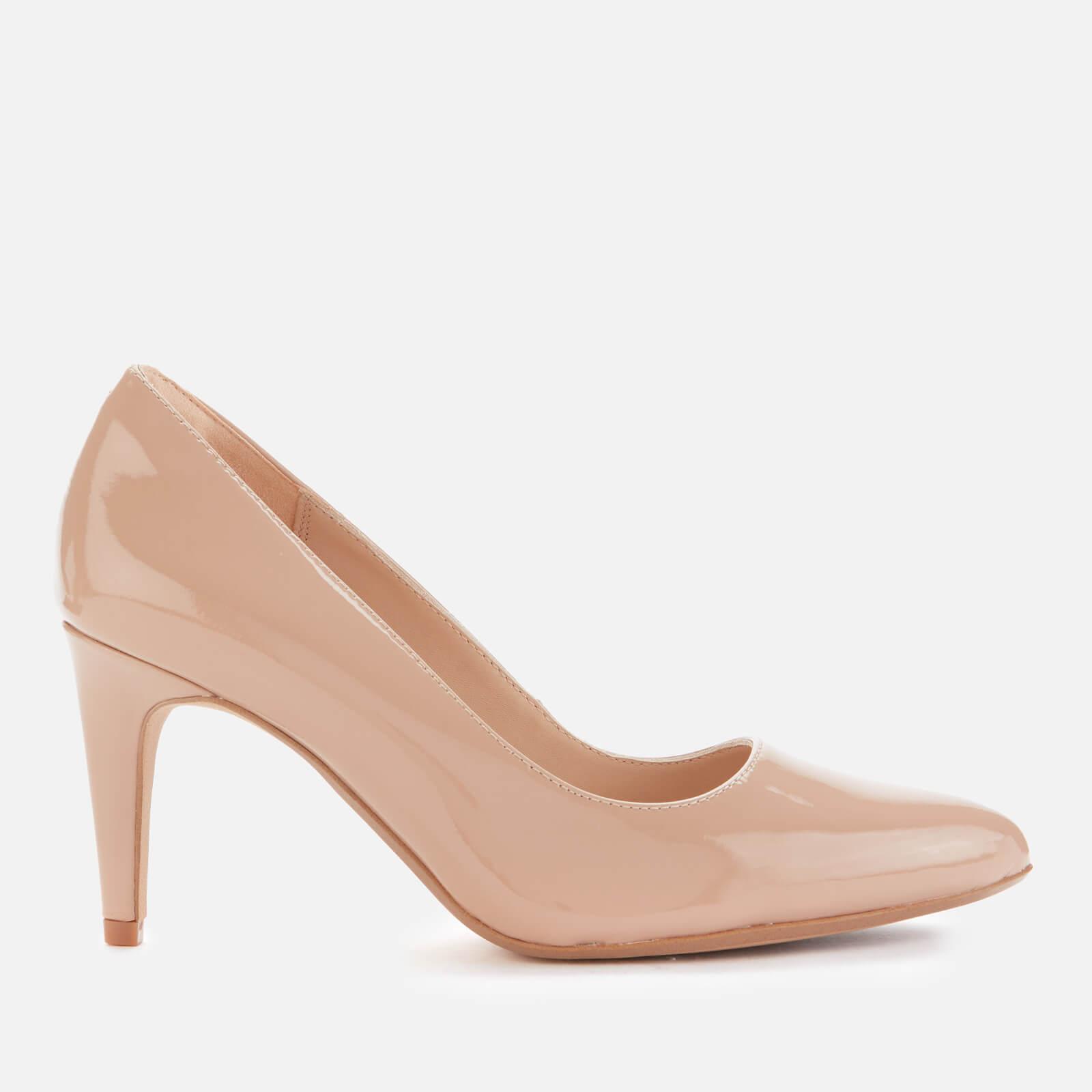 Clarks Women's Laina Rae 2 Patent Leather Court Shoes - Praline - Uk 8