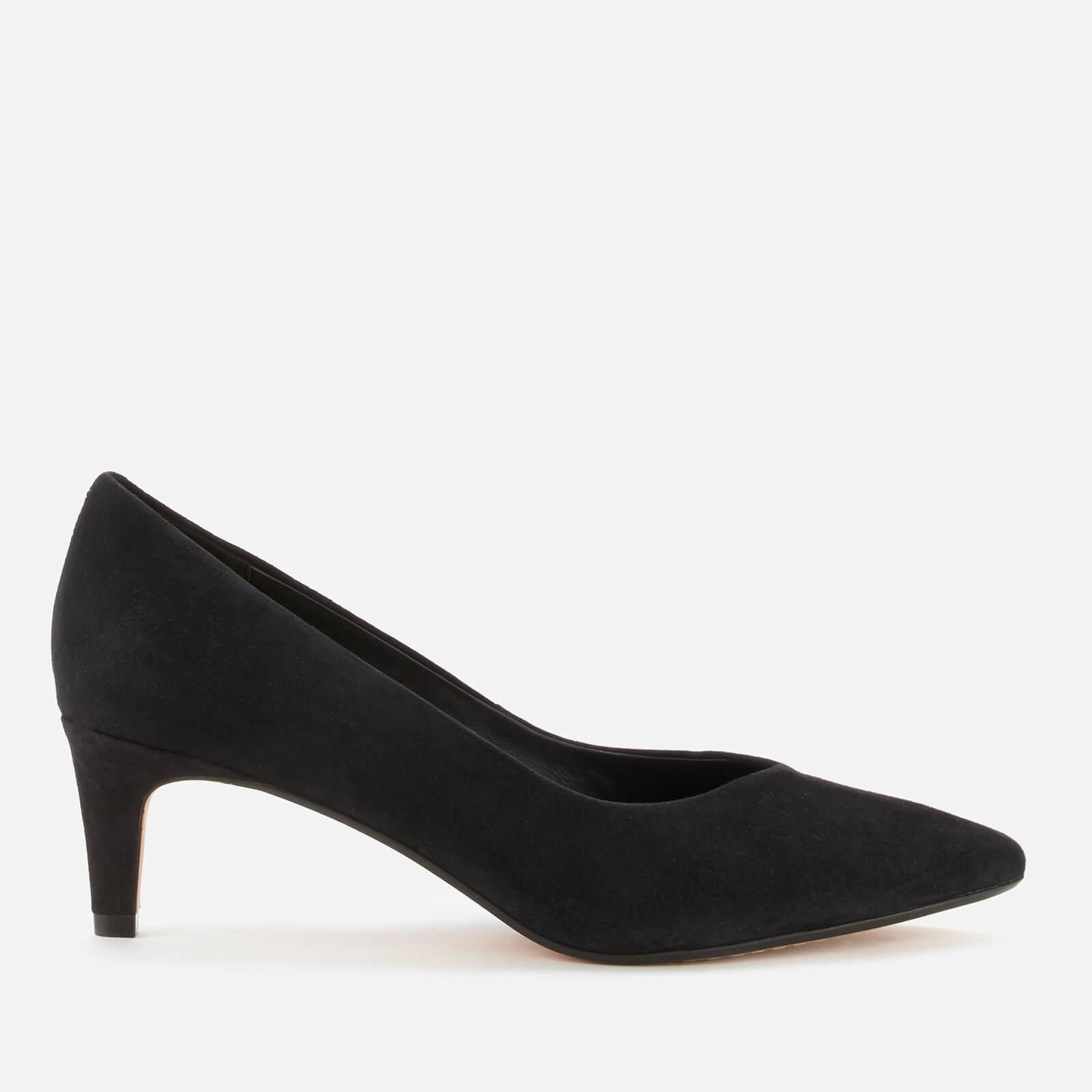 Clarks Women's Laina55 Court2 Suede Court Shoes - Black - Uk 8