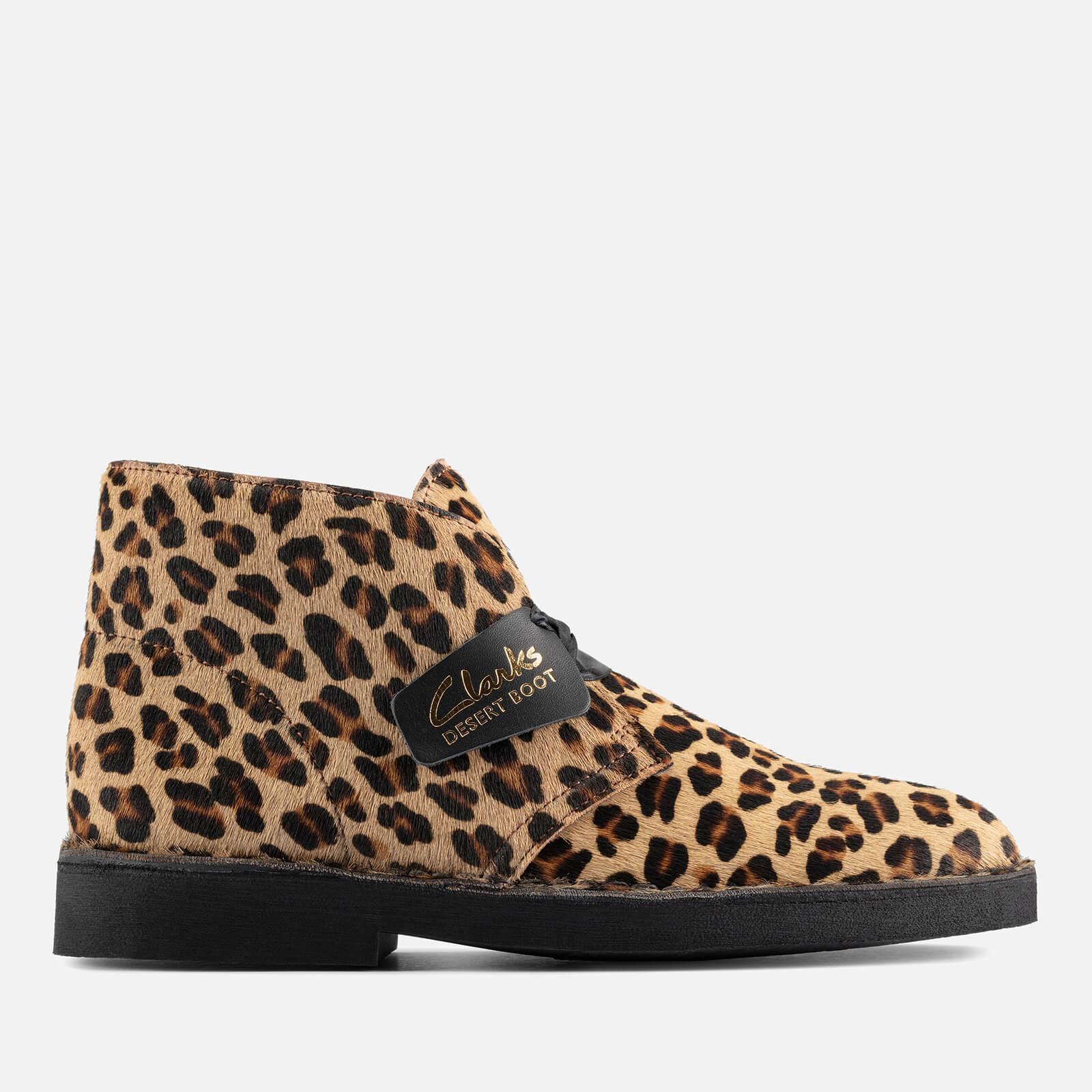 Clarks Women's Suede 2 Desert Boots - Leopard Print - Uk 3