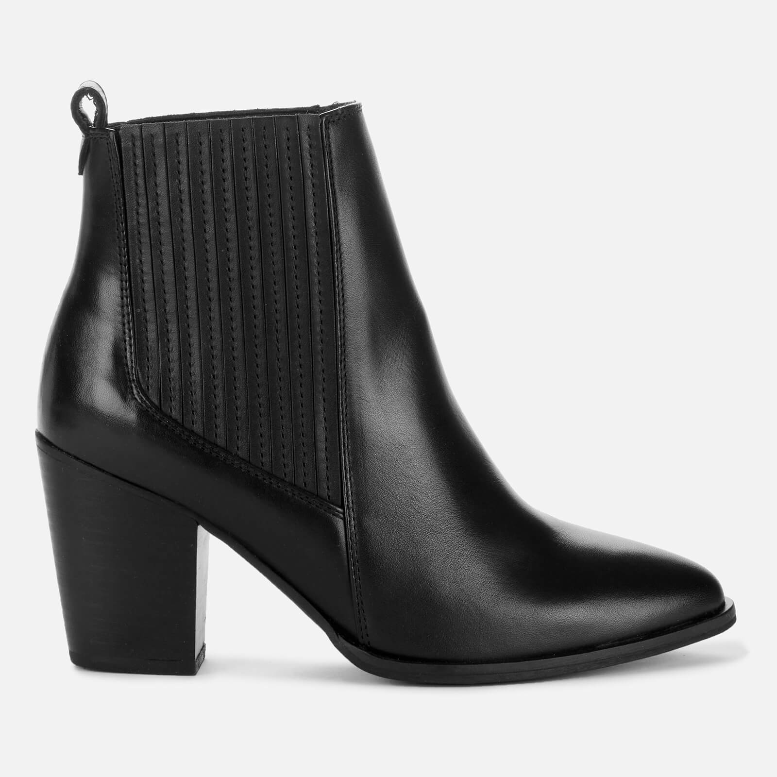 Clarks Women's West Lo Leather Heeled Ankle Boots - Black - Uk 3