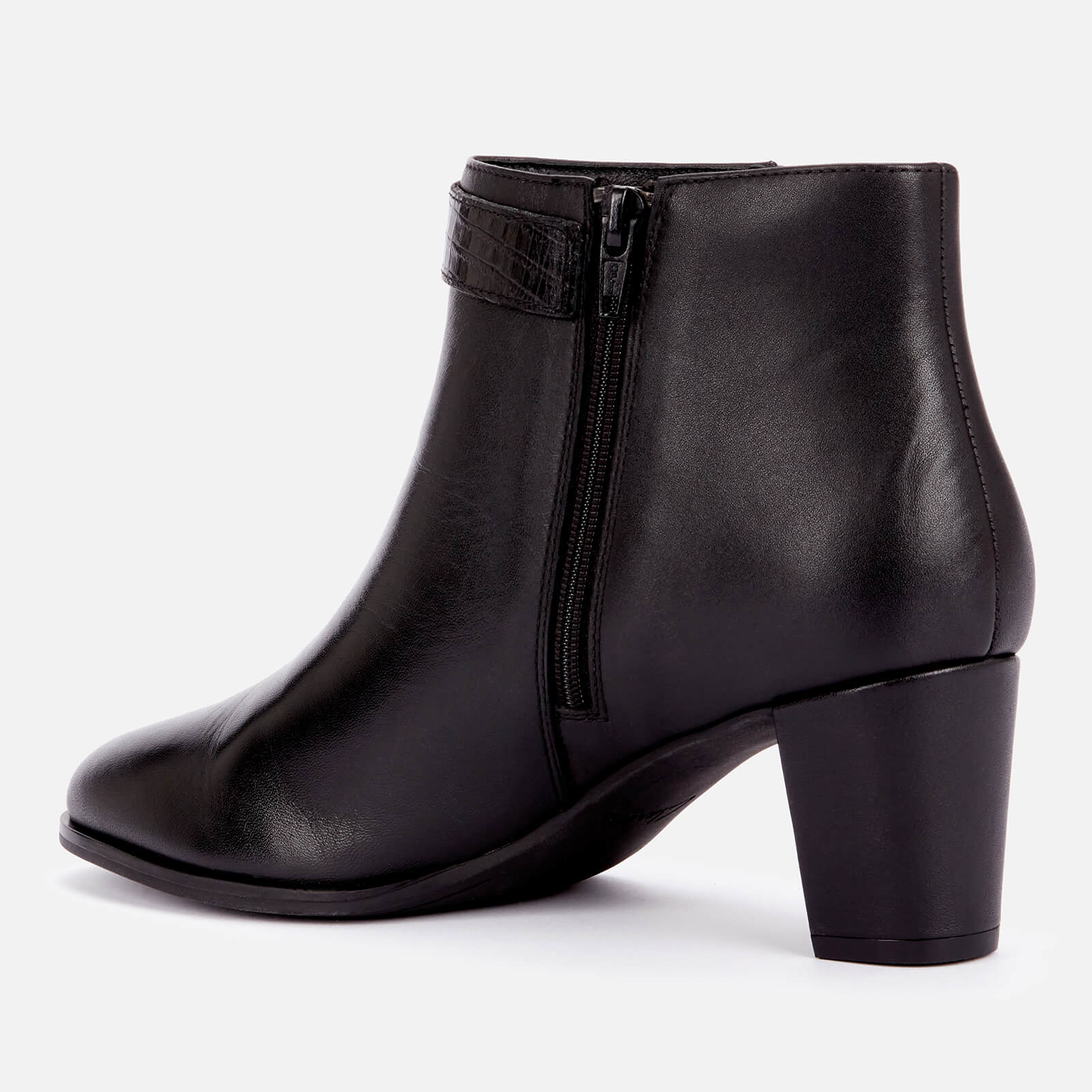 Clarks Women's Kaylin60 Leather Heeled Ankle Boots - Black - Uk 3