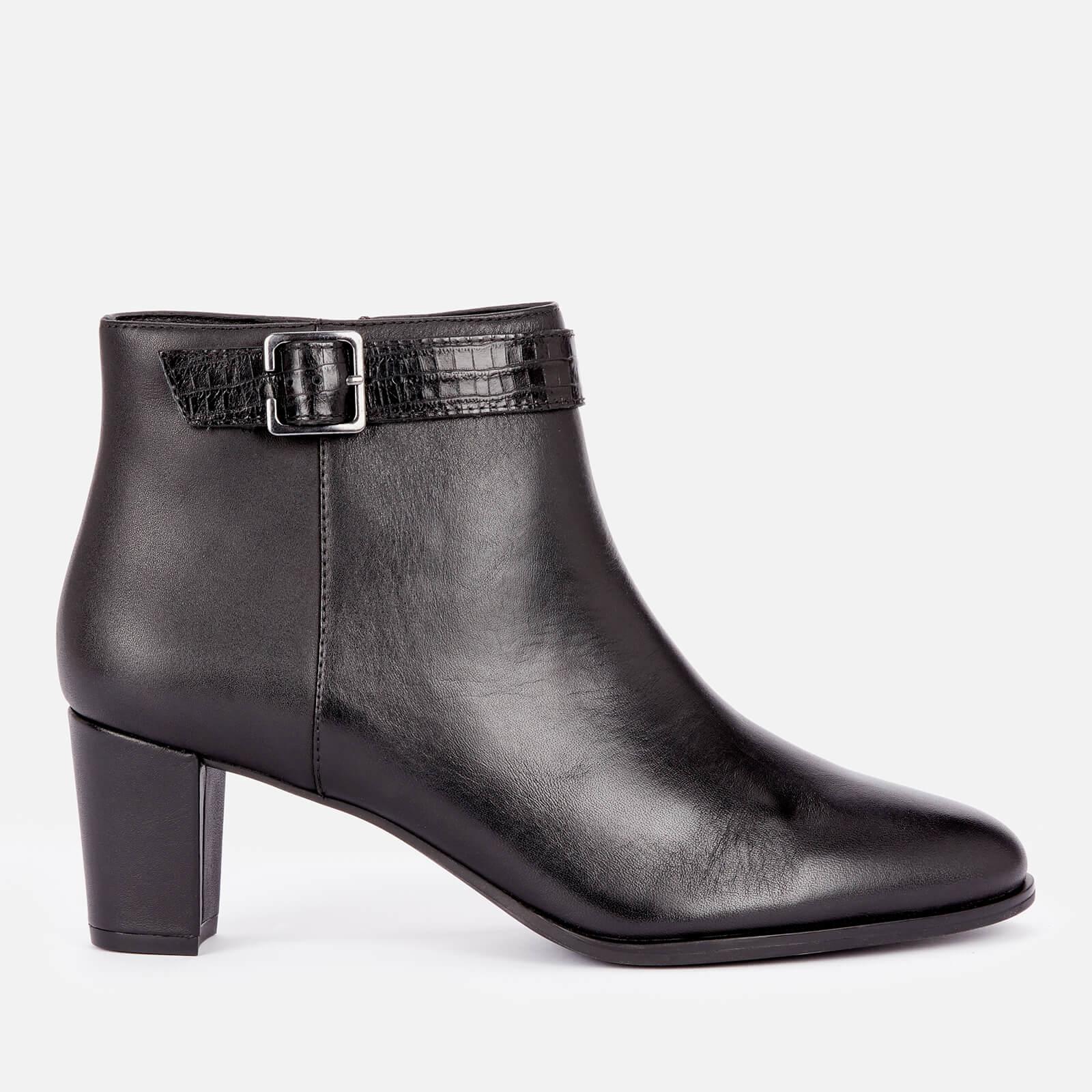 Clarks Women's Kaylin60 Leather Heeled Ankle Boots - Black - Uk 6