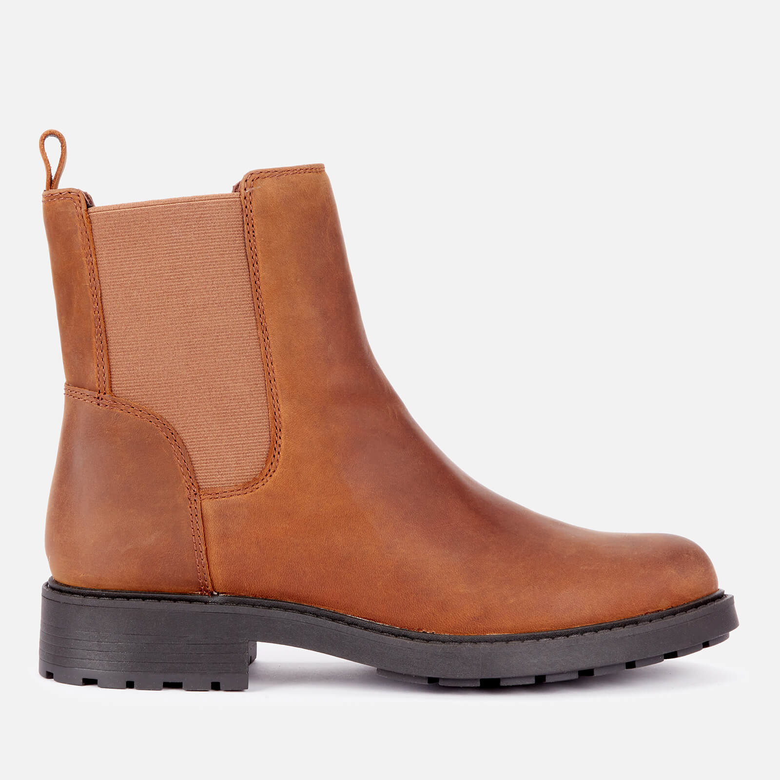 Clarks Women's Orinoco 2 Top Leather Chelsea Boots - Brown Snuff - UK 3