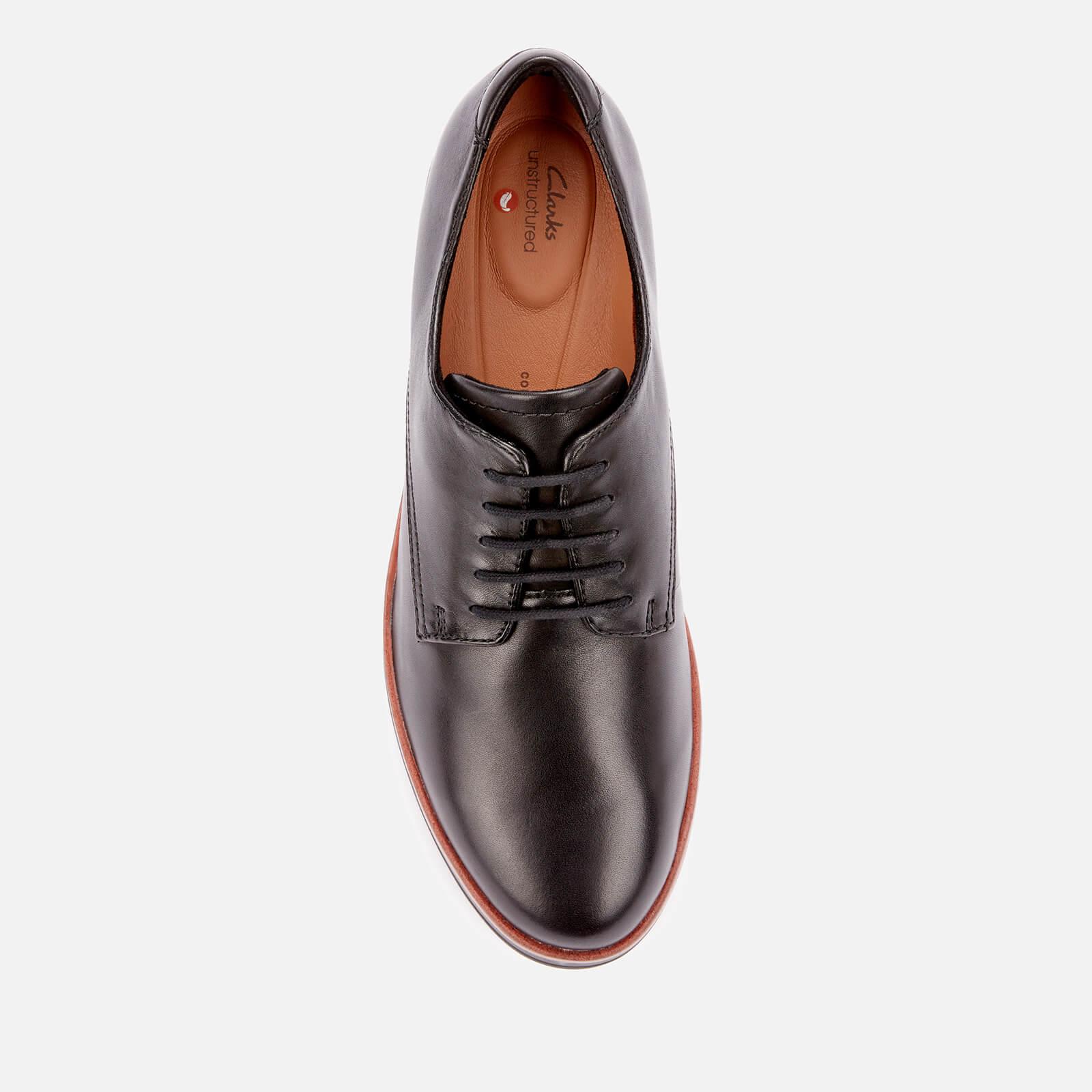 Clarks Women's Shaylin Lace Leather Shoes - Black - Uk 3