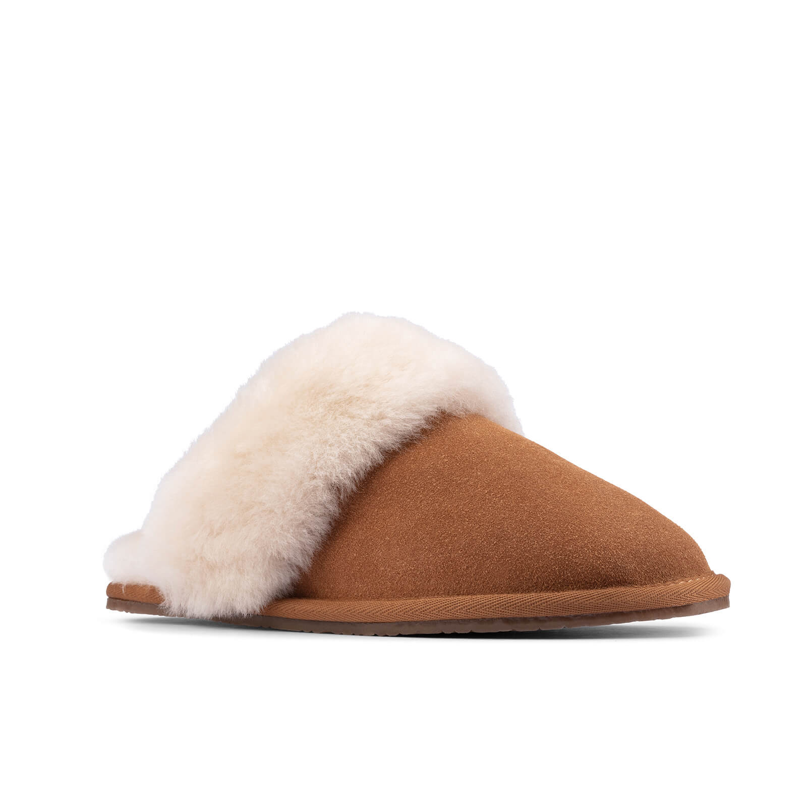 Click to view product details and reviews for Clarks Womens Warm Lux Suede Mule Slippers Tan Uk 3.