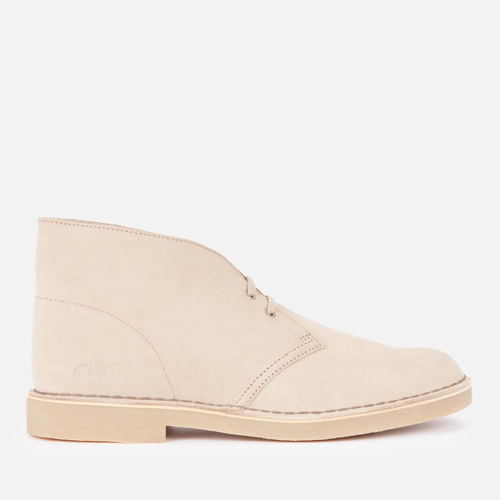 Clarks Men's Desert 2 Suede Boots - Sand - UK 8