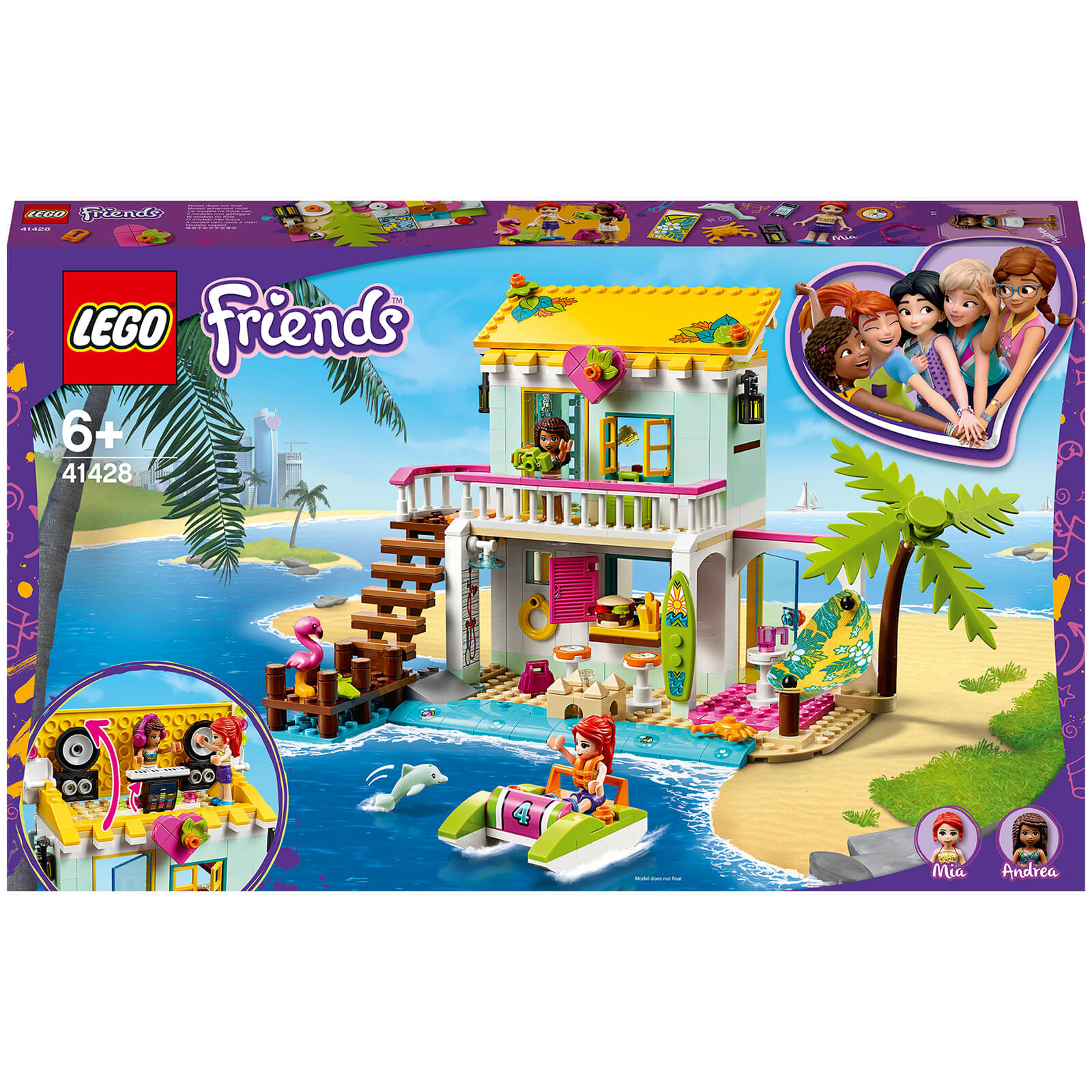 Image of 41428 LEGO® FRIENDS Beach house with pedal boat
