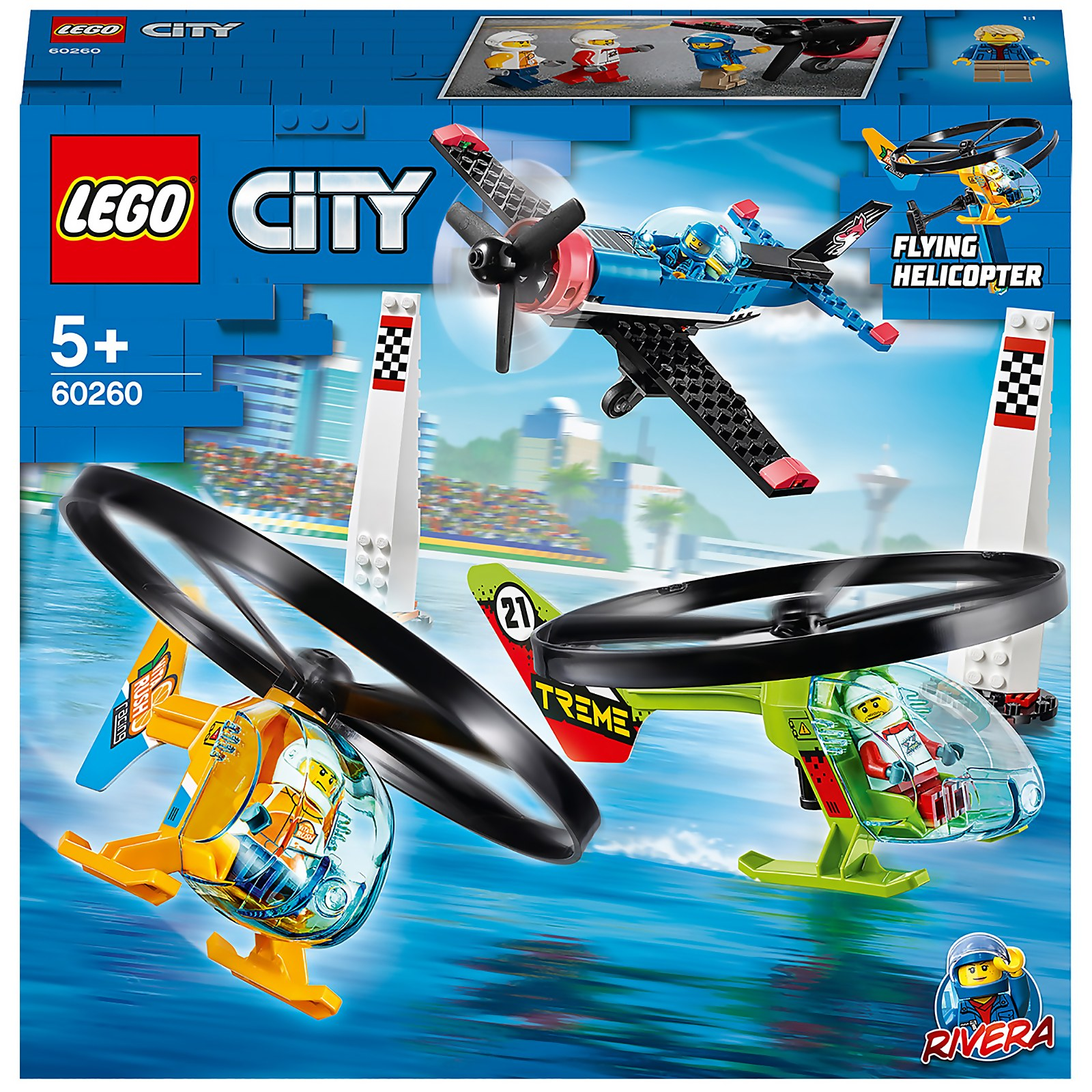 Image of LEGO City Airport Air Race Toy Plane & Helicopters Set - 60260