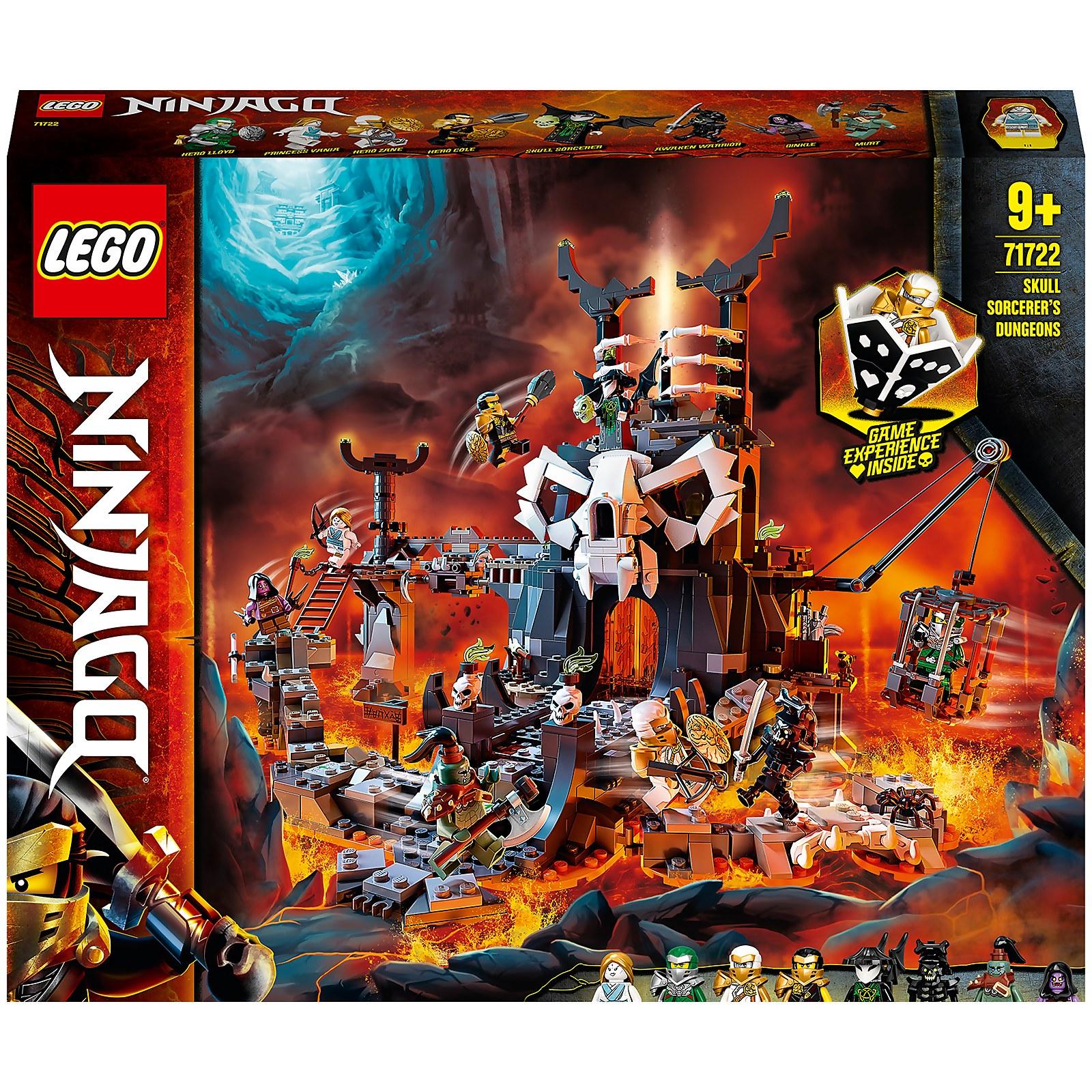 Image of LEGO NINJAGO: Skull Sorcerer's Dungeons Board Game Set (71722)