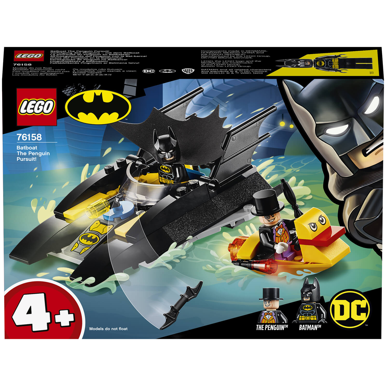 Image of 76158 LEGO® DC COMICS SUPER HEROES Pursuit of the penguin with the Batboat