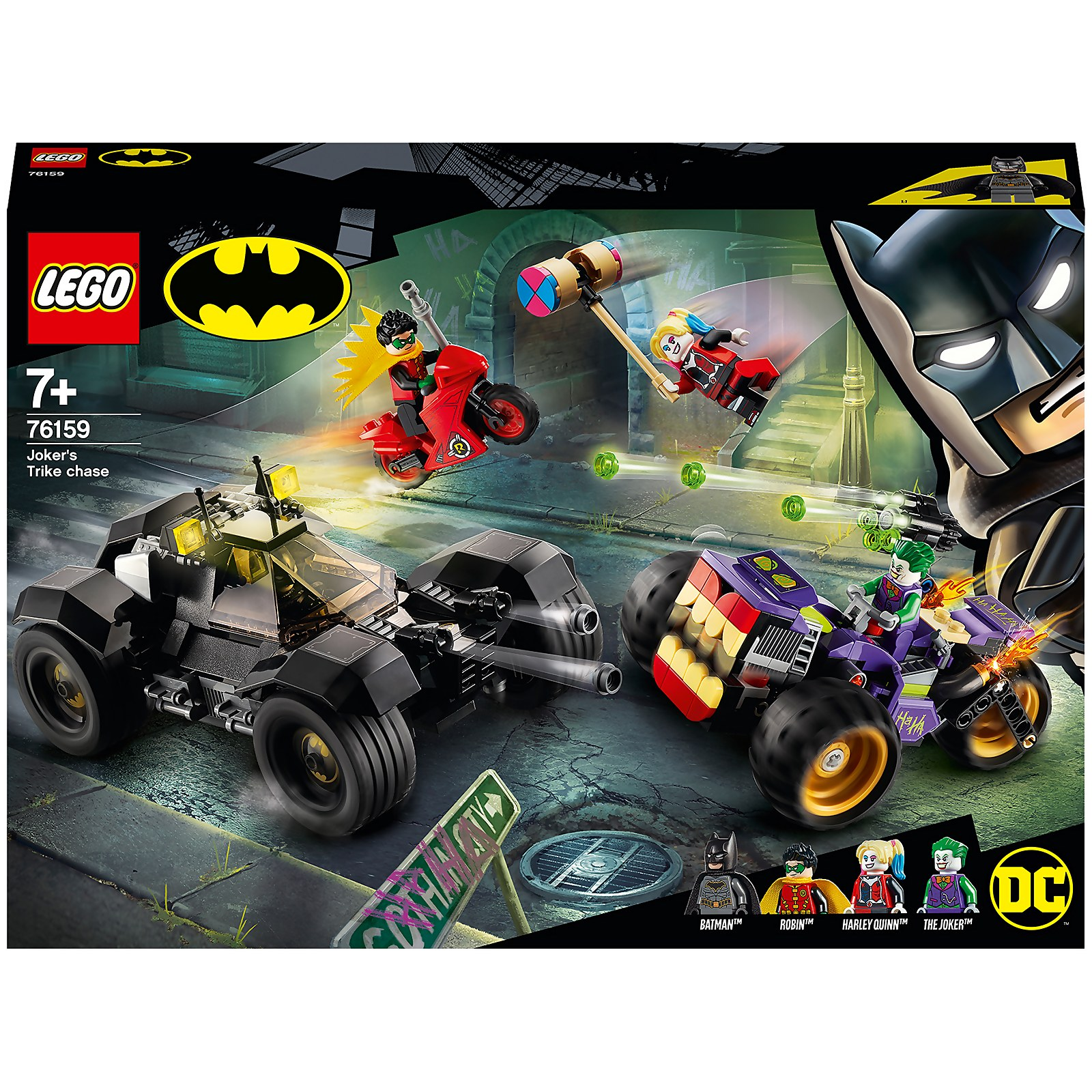 Image of 76159 LEGO® DC COMICS SUPER HEROES Jokers™ Trike chase