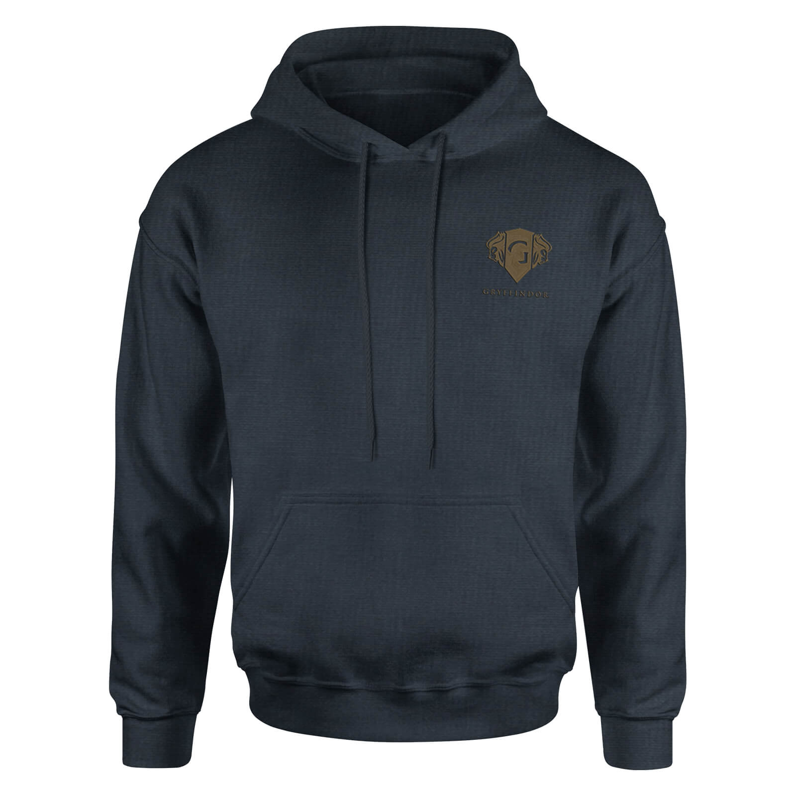 Harry Potter Gryffindor Embroidered Kids' Piped Hoodie - Navy - 7-8 Years