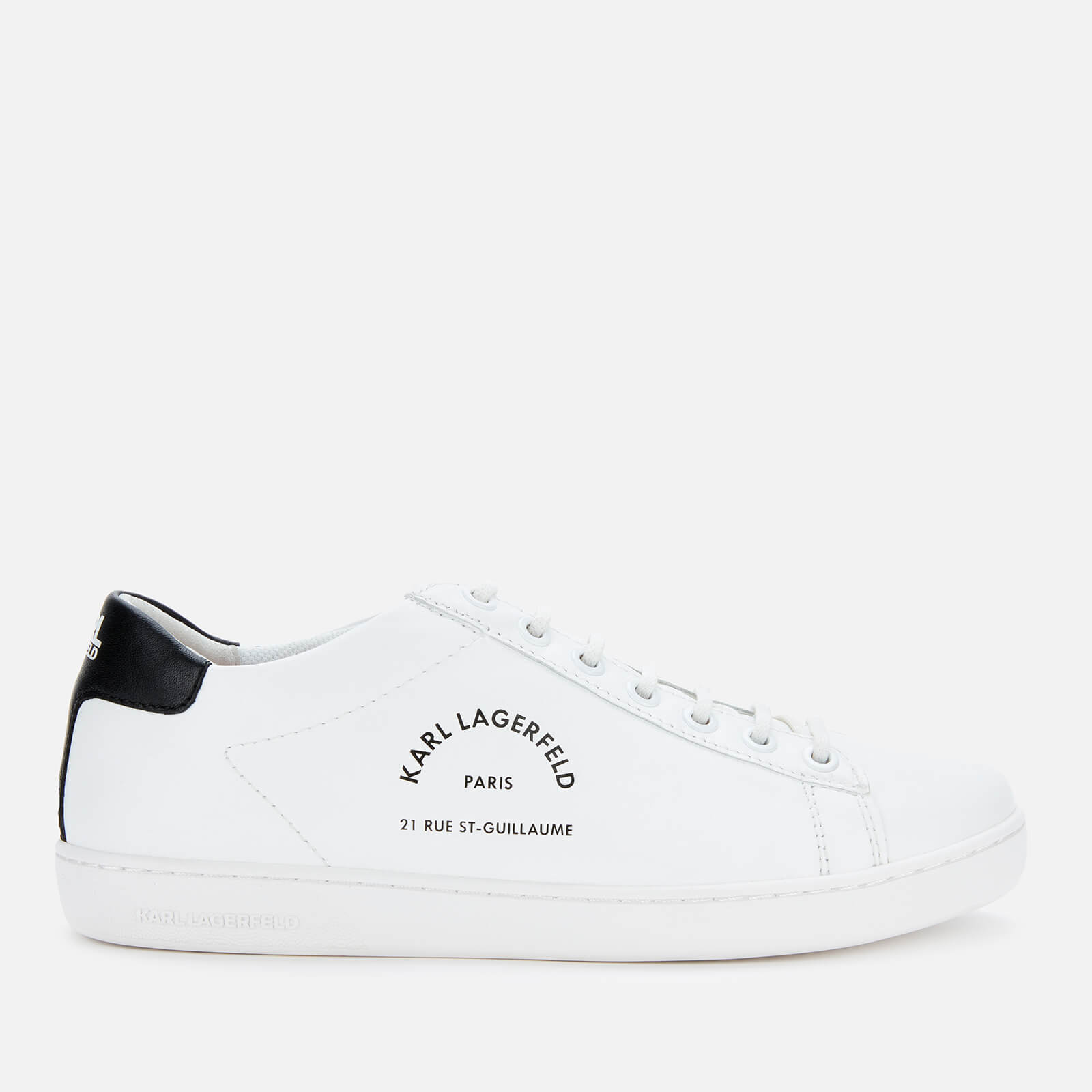 Karl Lagerfeld Women's Kupsole II Mason Leather Trainers - White - UK 5
