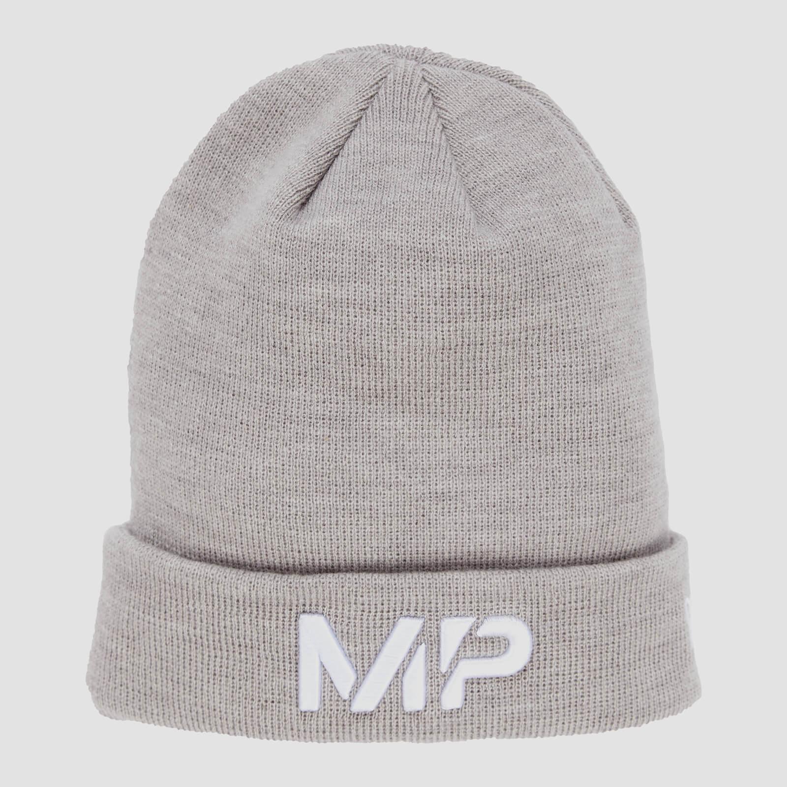 MP New Era Cuff Knitted Beanie - Chrome/White