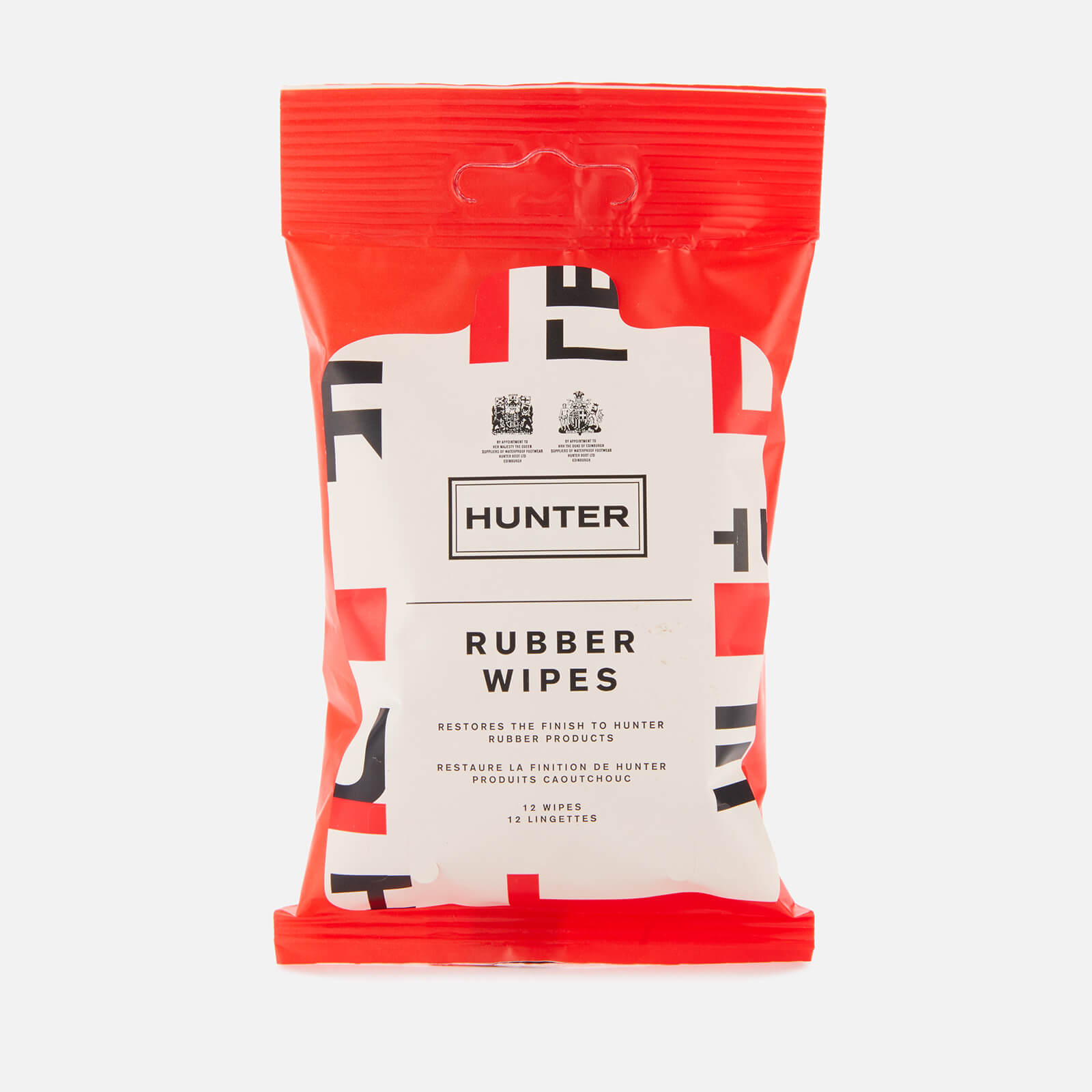 Hunter Rubber Boot Wipes Exploded Logo
