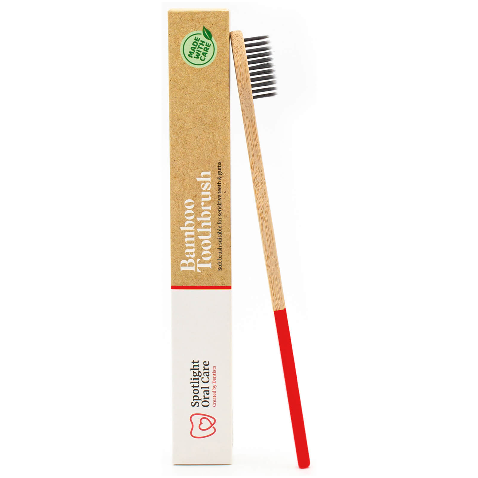 Spotlight Oral Care Bamboo Toothbrush - Red