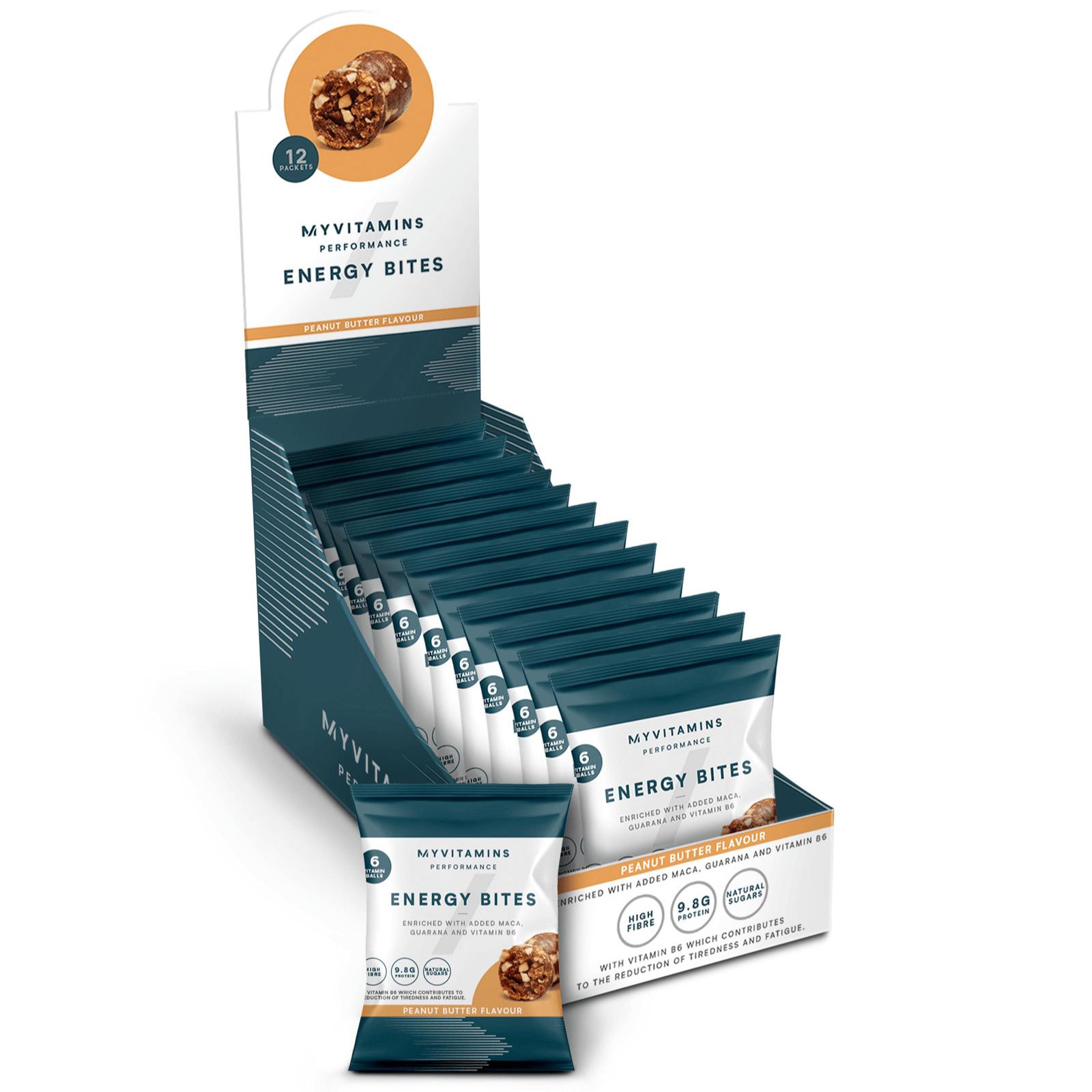 Energy Bites - 12 x 45g - Beurre d'arachides