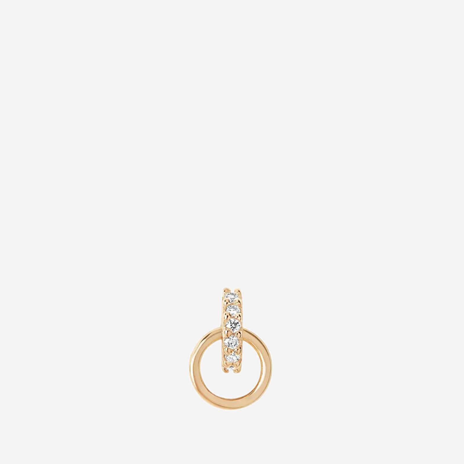 Maria Black Women's Lila Diamond Hoop Labret - Gold