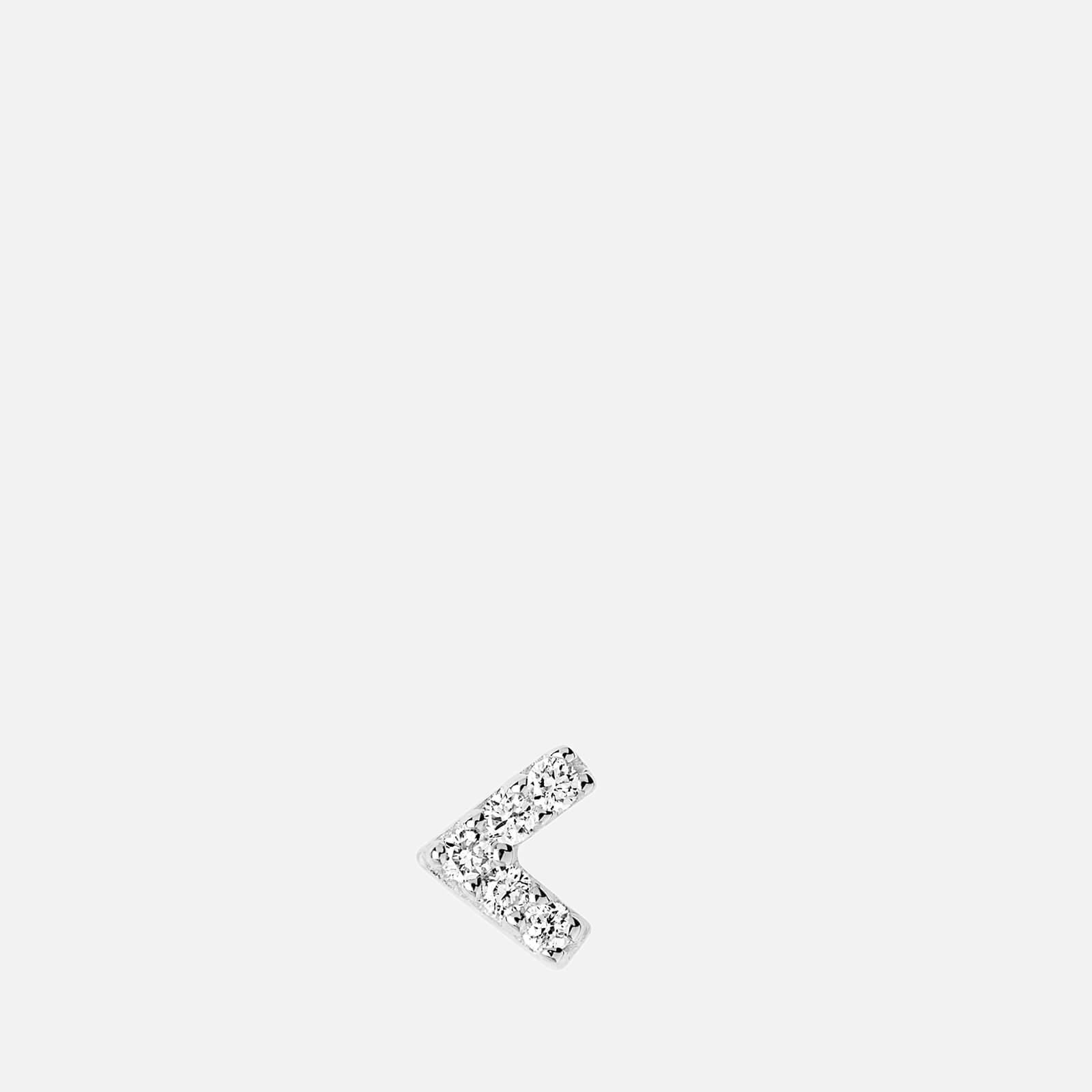 Maria Black Women's Diamond Velvet Labret - White Gold