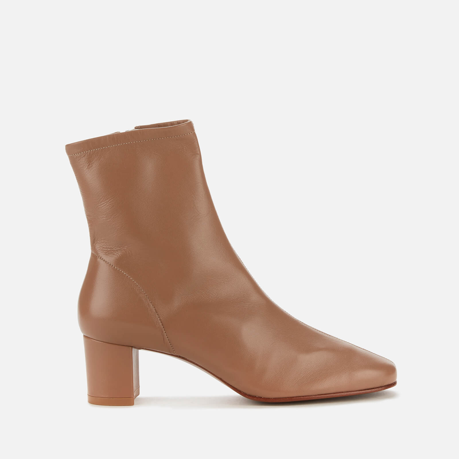 By Far Women's Sofia Leather Heeled Boots - Nude - Uk 3