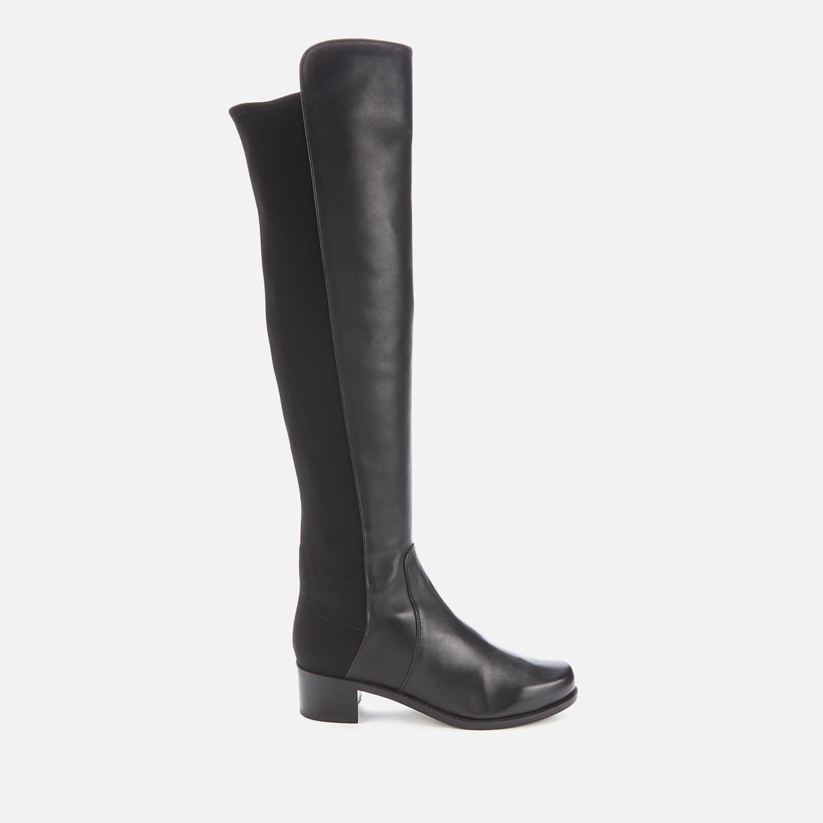 Stuart Weitzman Women's Reserve Leather/Suede Over The Knee Boots - Black - Uk 7