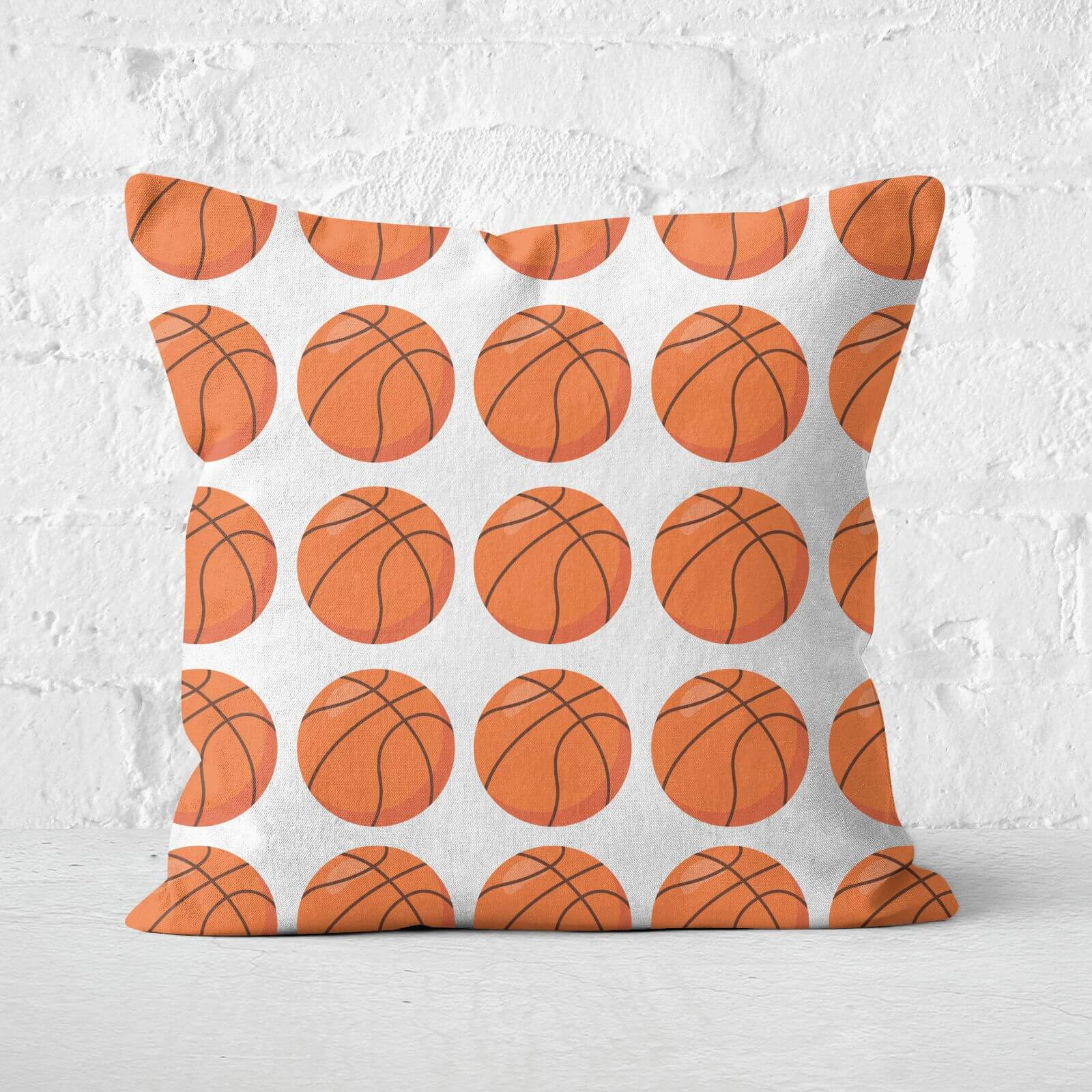 Basketball Square Cushion   40x40cm   Soft Touch