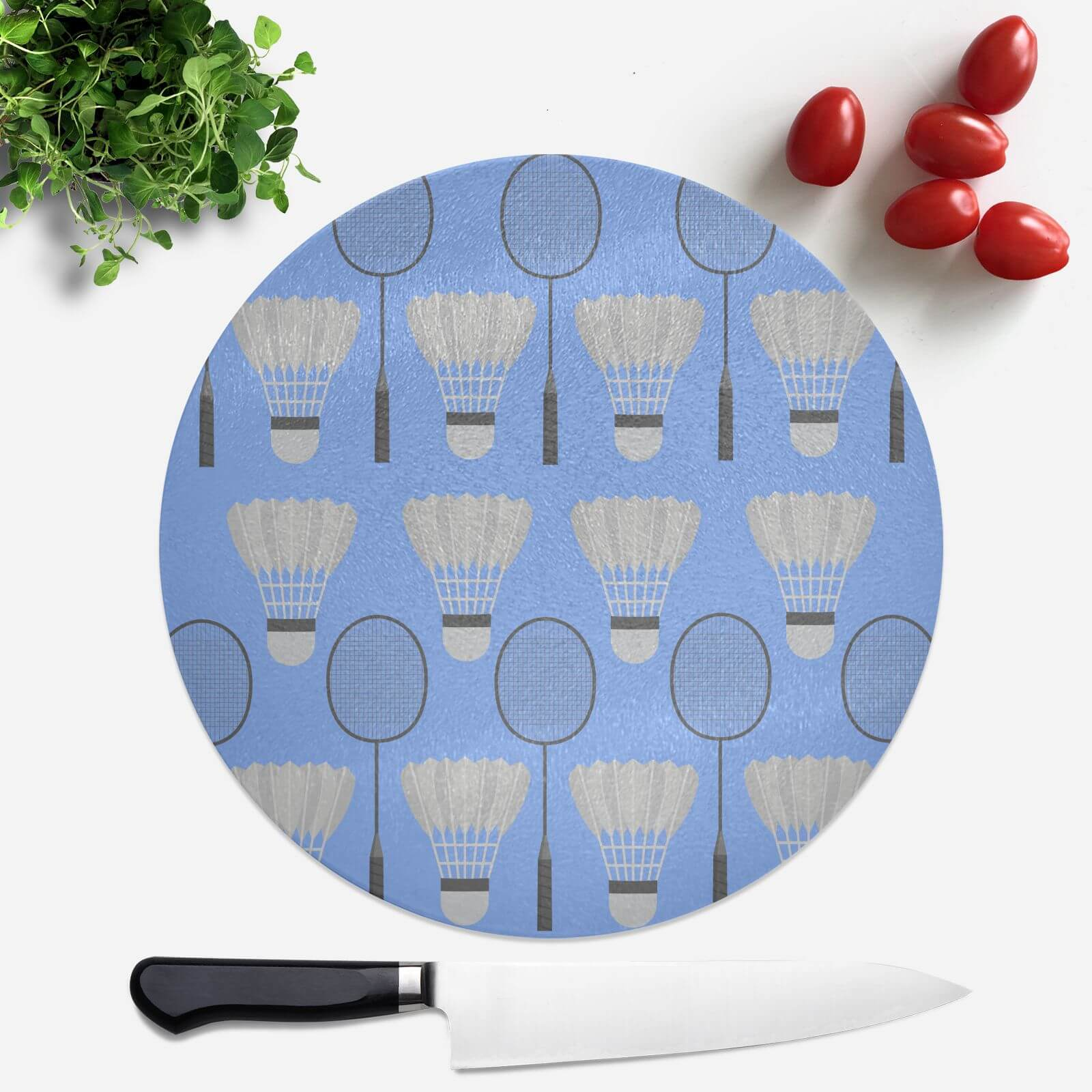 Badminton Round Chopping Board