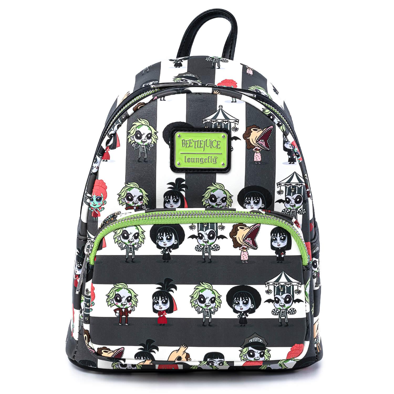 Image of Loungefly Beetlejuice Group Chibi Aop Mini Backpack