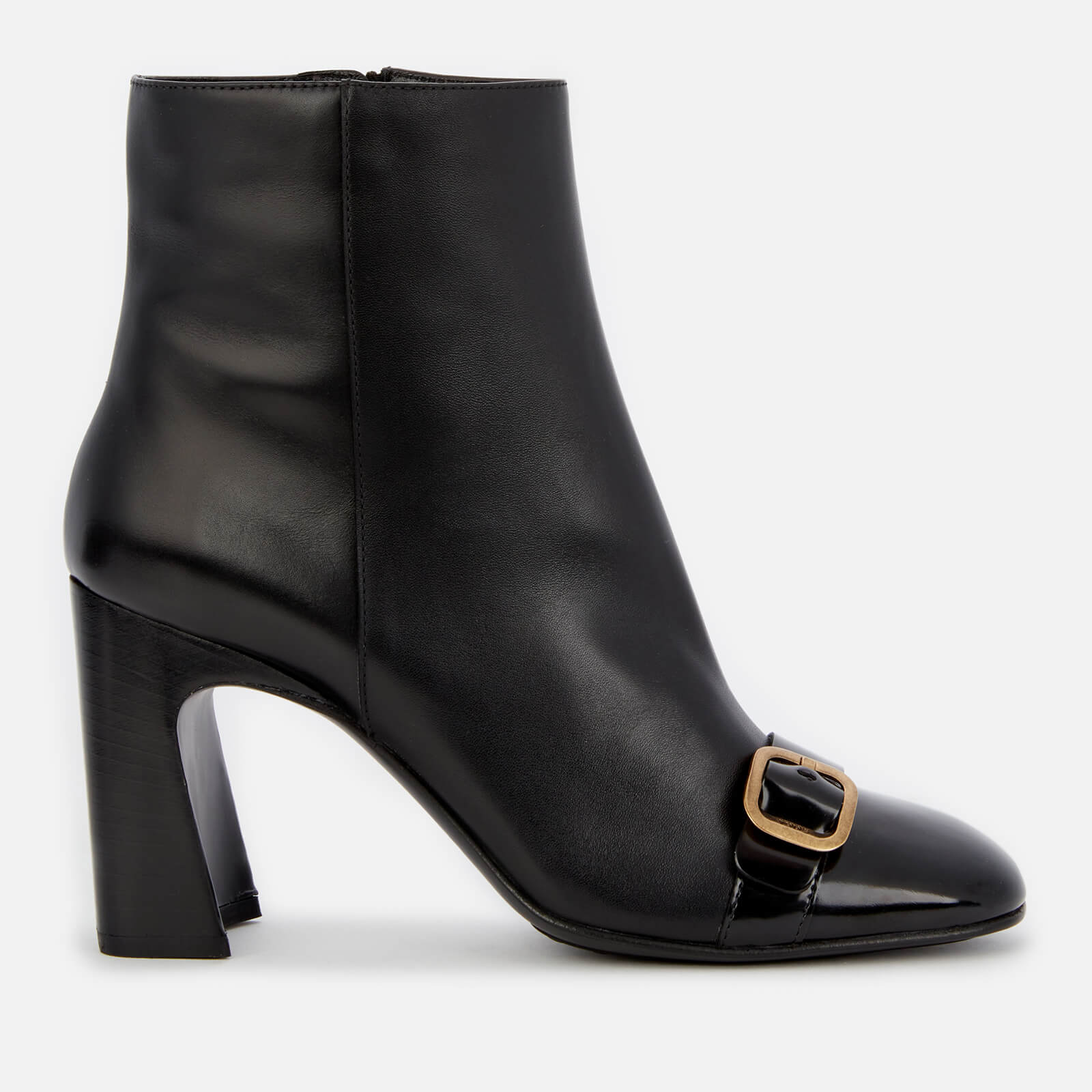 Tod's Women's Leather Heeled Ankle Boots - Black - Uk 4