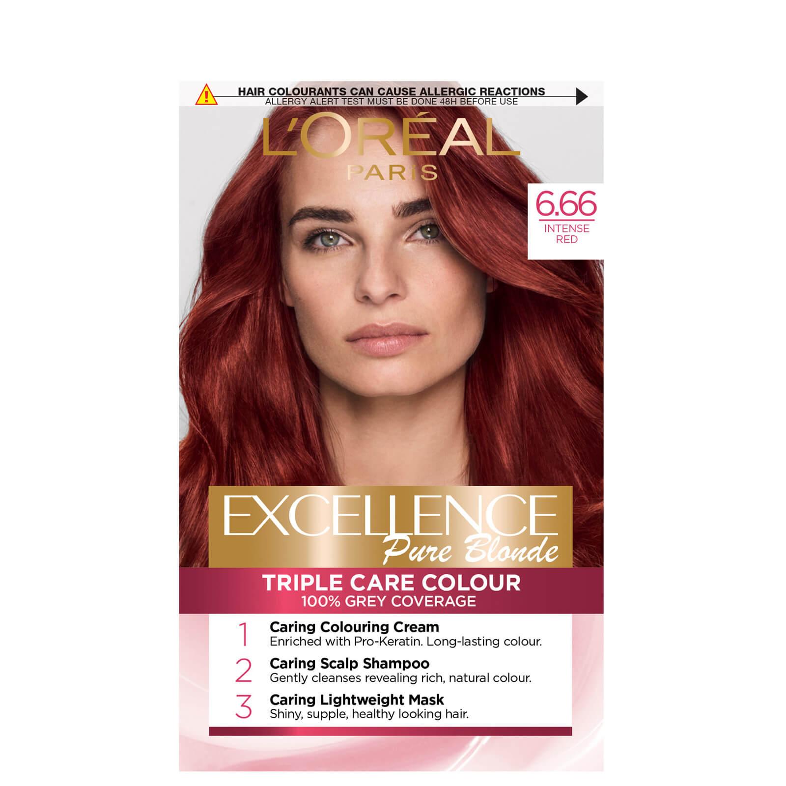 L'Oréal Paris Excellence Crème Permanent Hair Dye (Various Shades) - 6.66 Intense Red