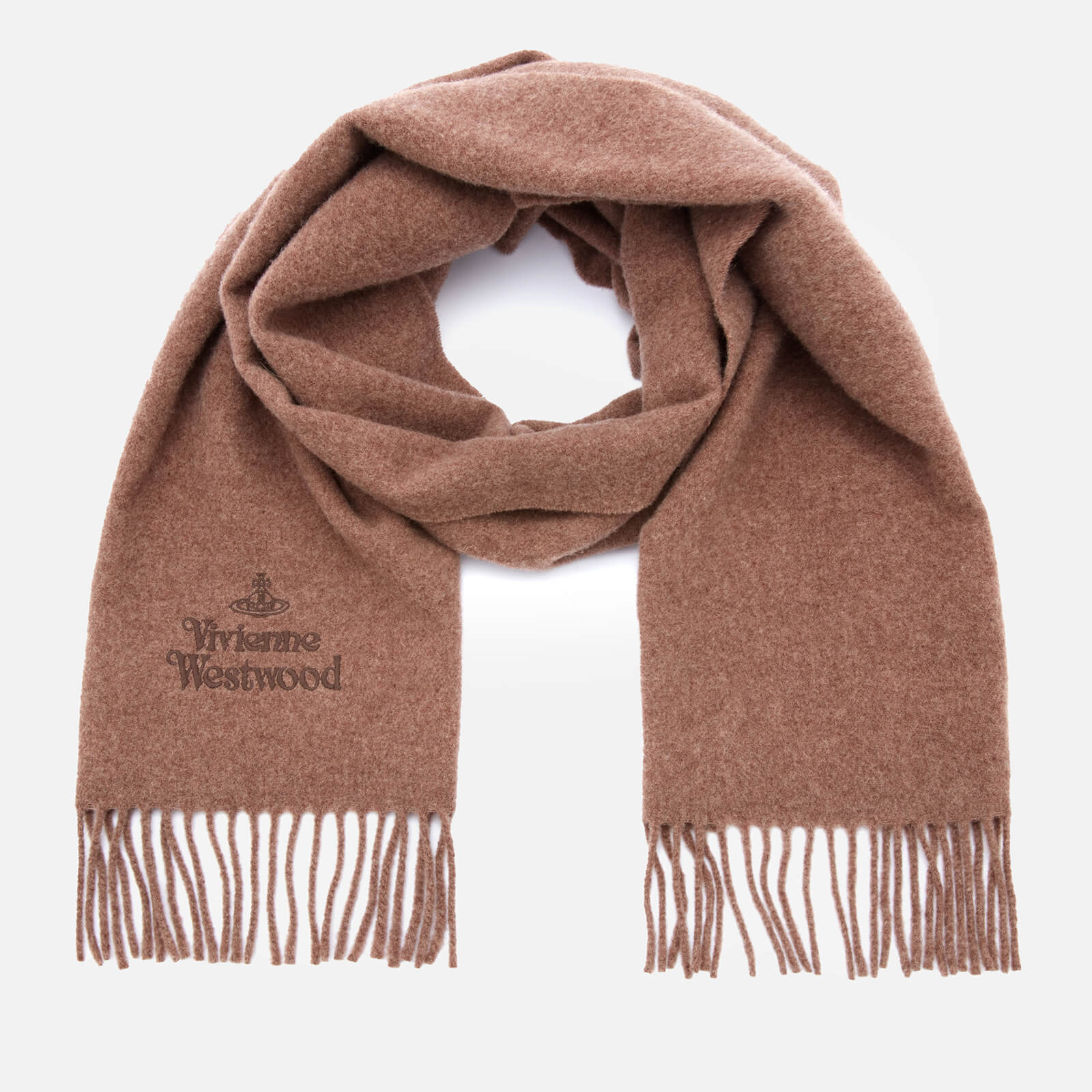 vivienne westwood women's embroidered wool scarf - juta