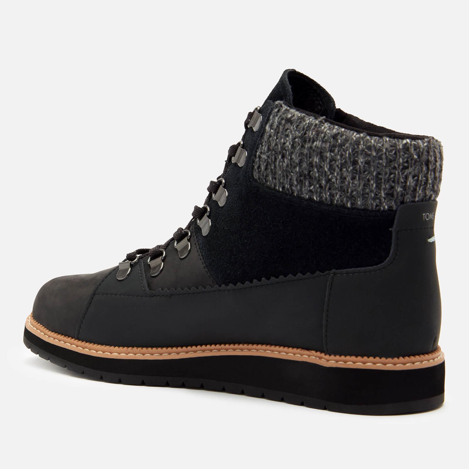 Toms Women's Mesa Waterproof Nubuck Leather Hiking Style Boots - Black - Uk 3