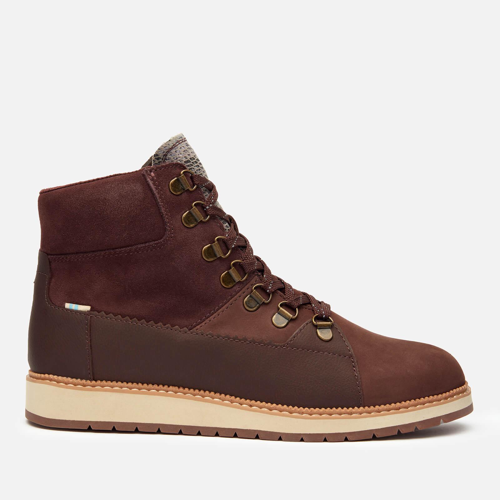 Toms Women's Mesa Waterproof Nubuck Leather Hiking Style Boots - Dark Red - Uk 3