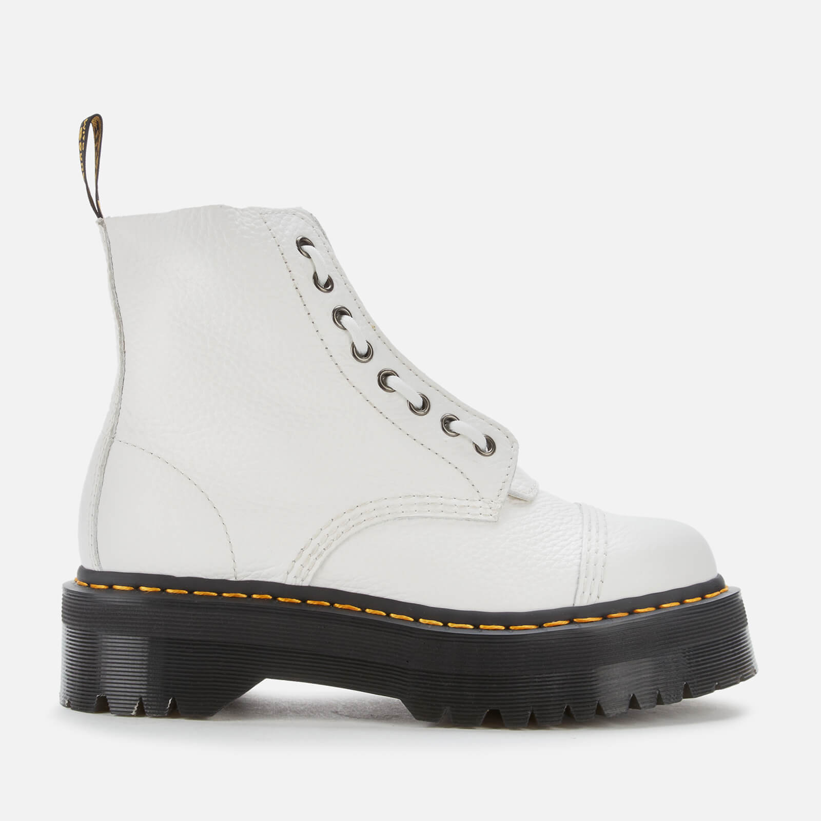 Dr. Martens Women's Sinclair Leather Zip Front Boots - White - UK 8