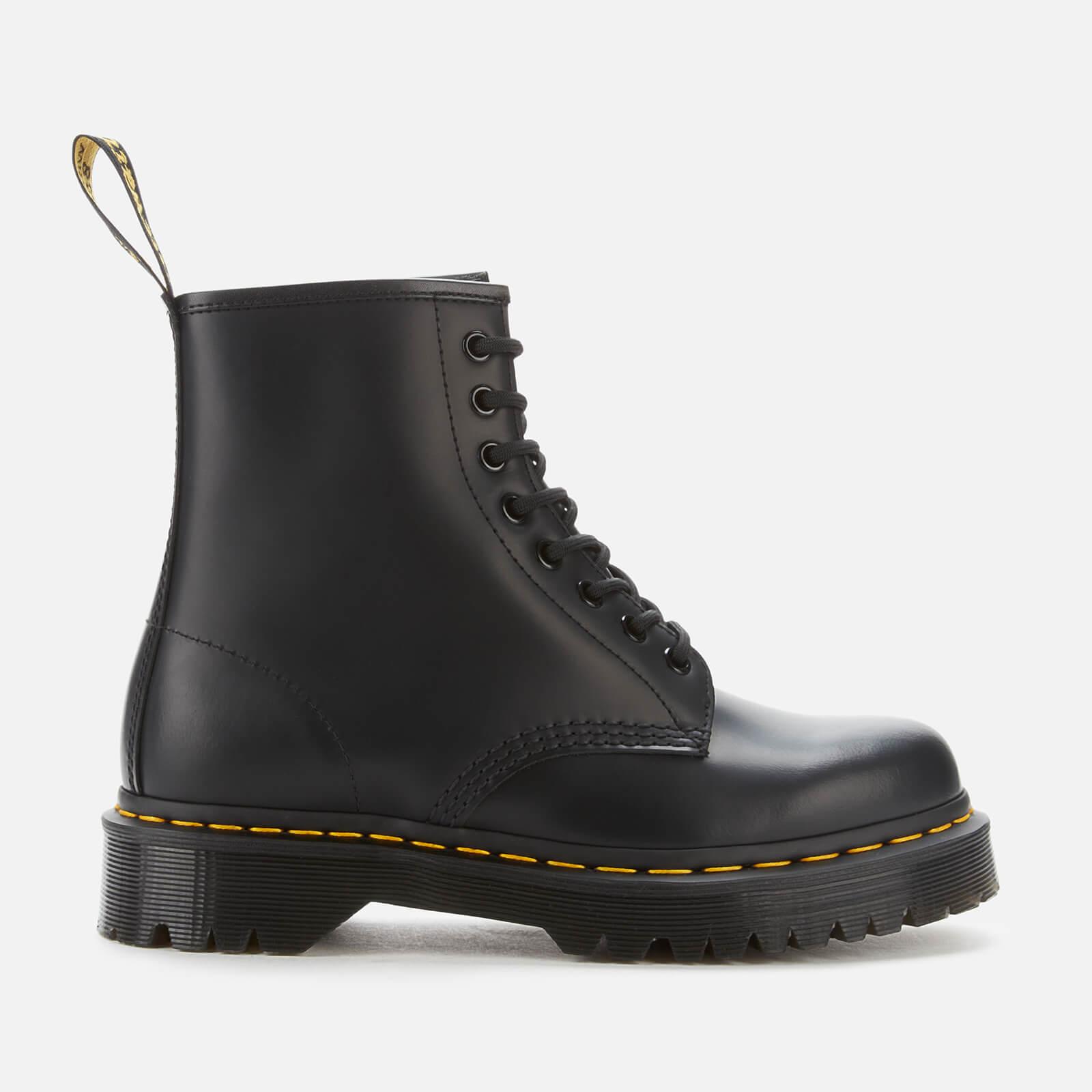 Dr. Martens 1460 Bex Smooth Leather 8-Eye Boots - Black - Uk 9