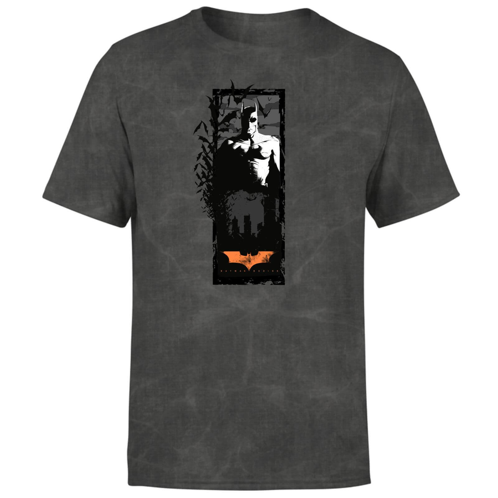 Batman Begins More Than A Man Unisex T-Shirt - Schwarz Acid Wash - S - Schwarz