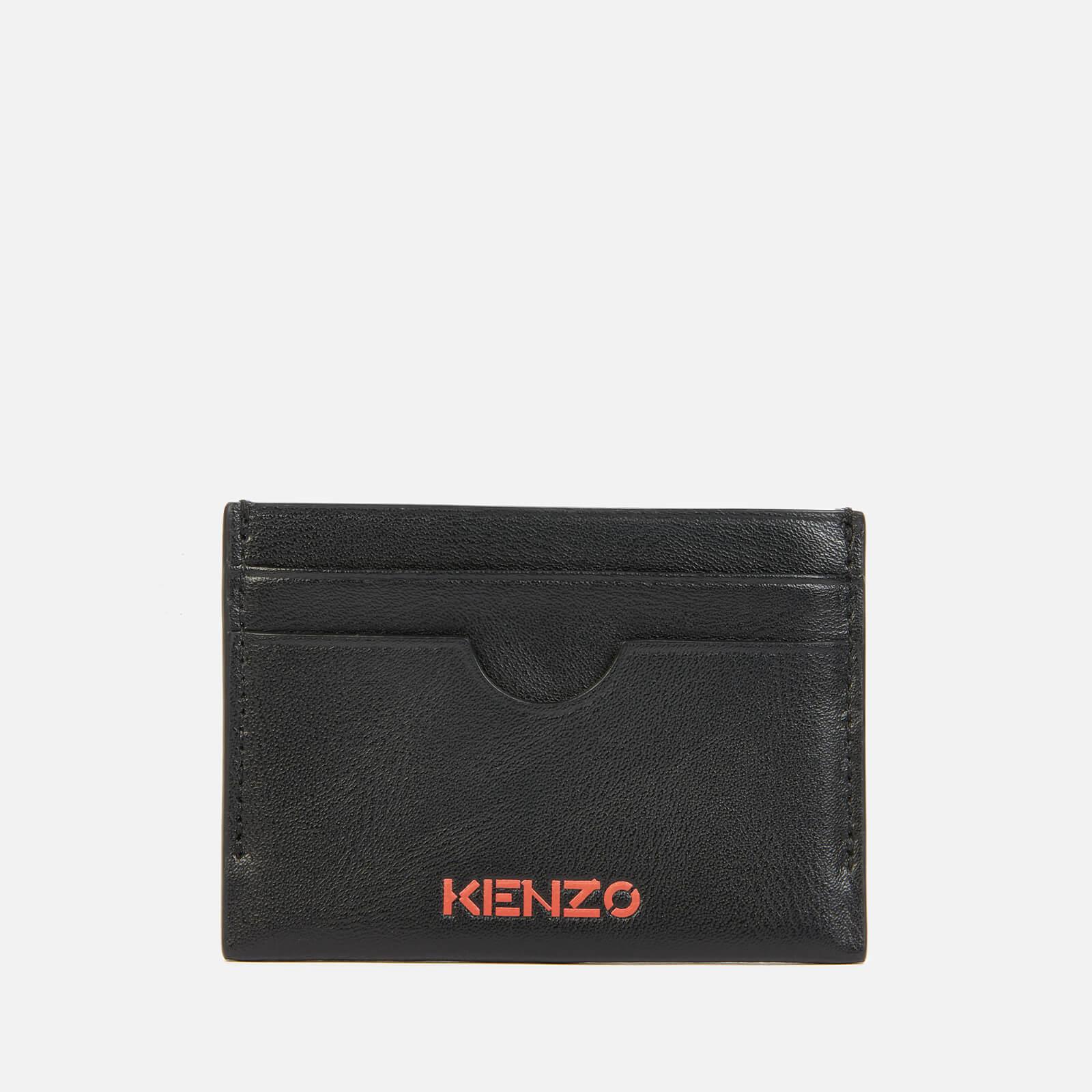 kenzo men's leather cardholder - black