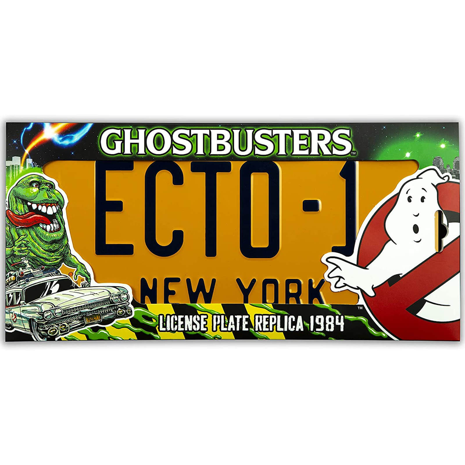 Image of Doctor Collector Ghostbusters Ecto-1 Licence Plate Replica