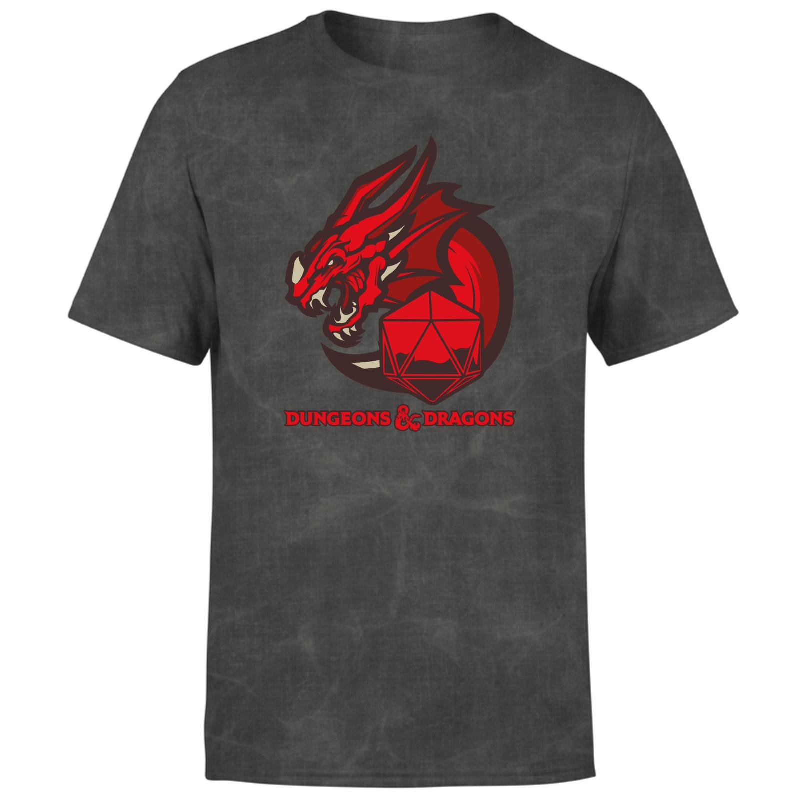 Dungeons & Dragons Esports D&D T-Shirt - Black Acid Wash - XS - Black Acid Wash