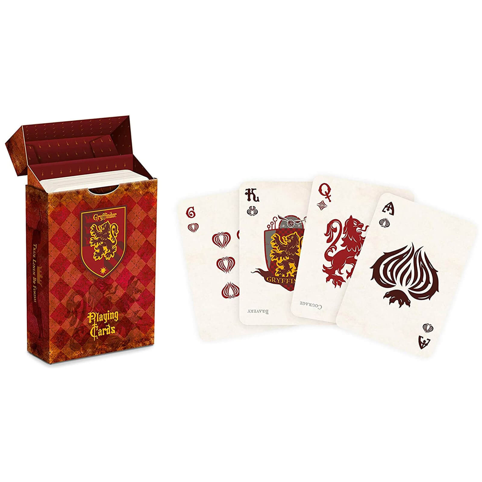 Image of Harry Potter House Playing Cards - Gryffindor