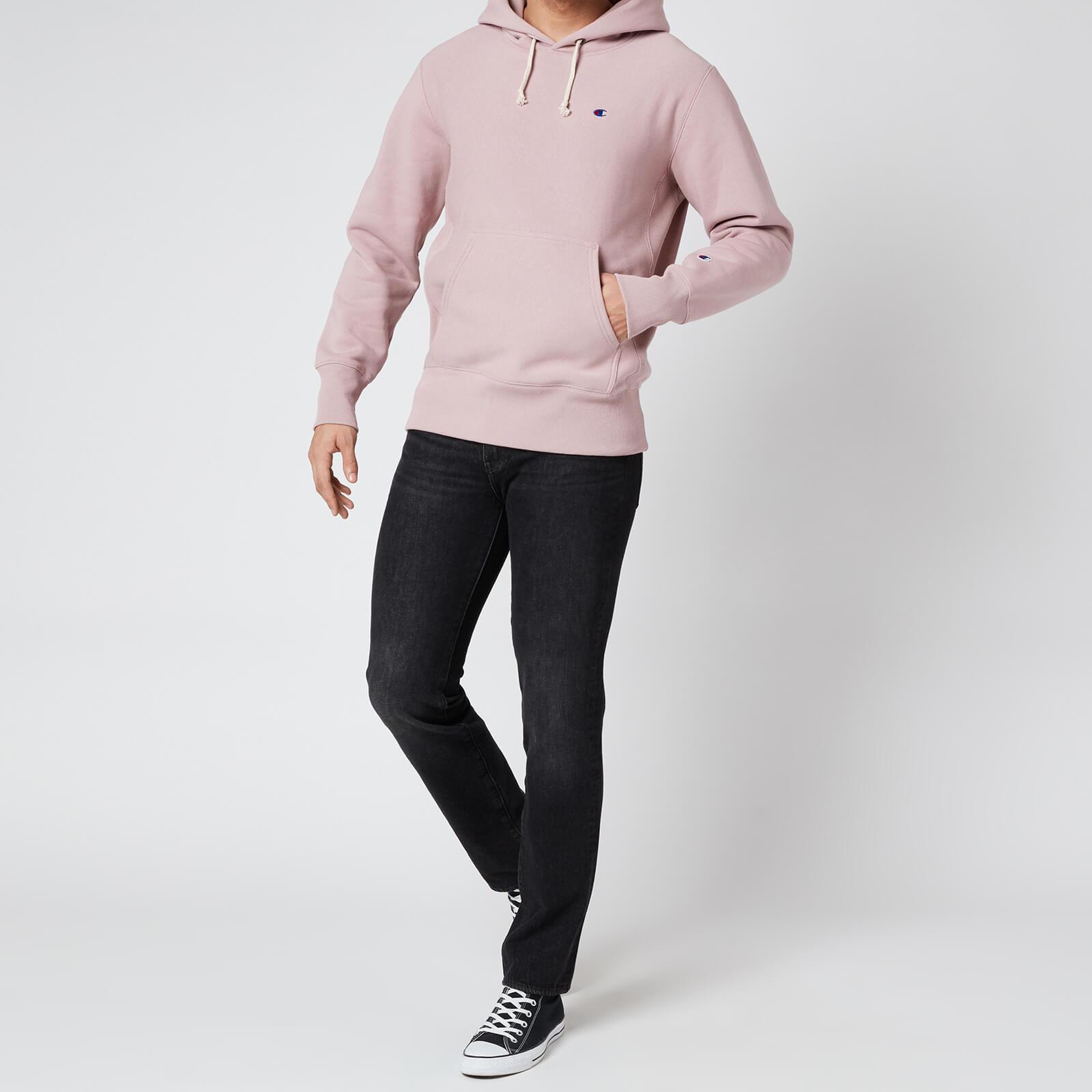 Champion Men's Reverse Weave Hoodie - Pink - L