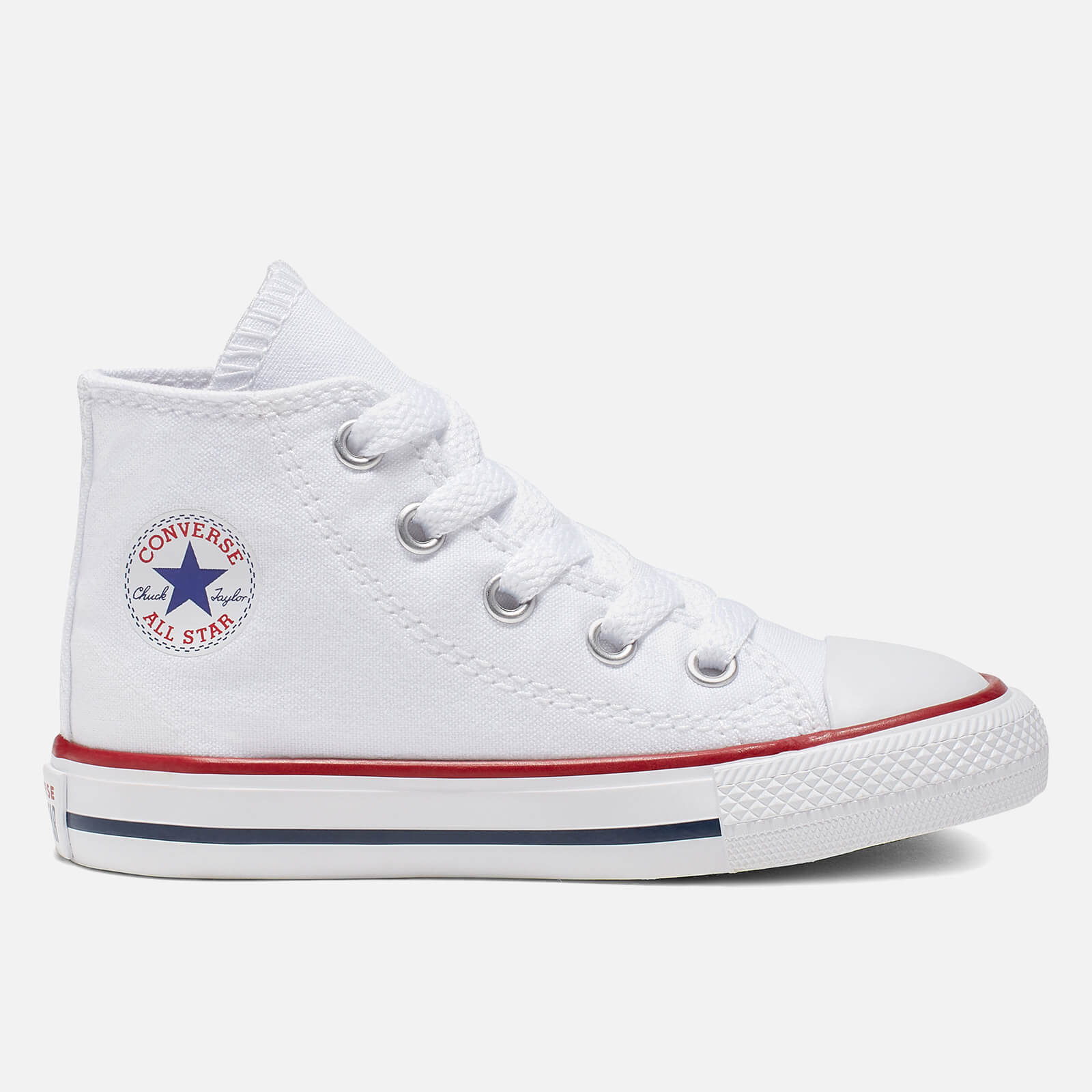 Click to view product details and reviews for Converse Toddlers Chuck Taylor All Star Hi Top Tainers Optical White Uk 2 Toddler.
