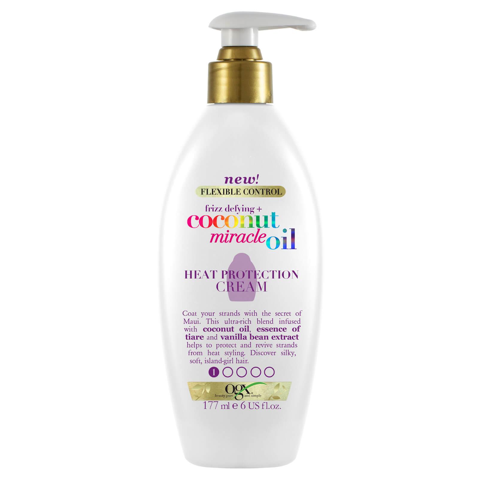 Купить OGX Frizz-Defying+ Coconut Miracle Oil Heat Protection Cream 177ml