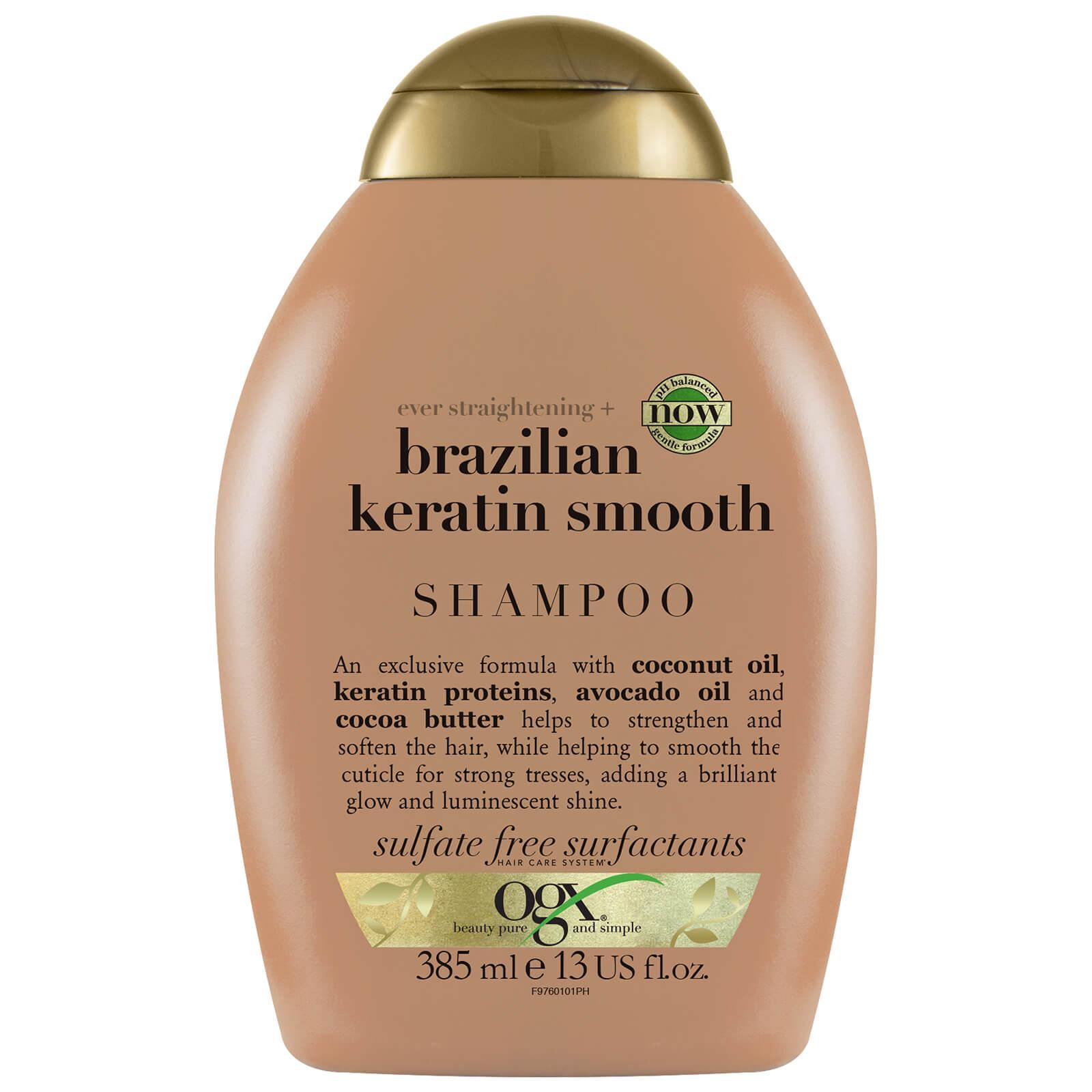 Купить OGX Ever Straightening+ Brazilian Keratin Smooth Shampoo 385ml