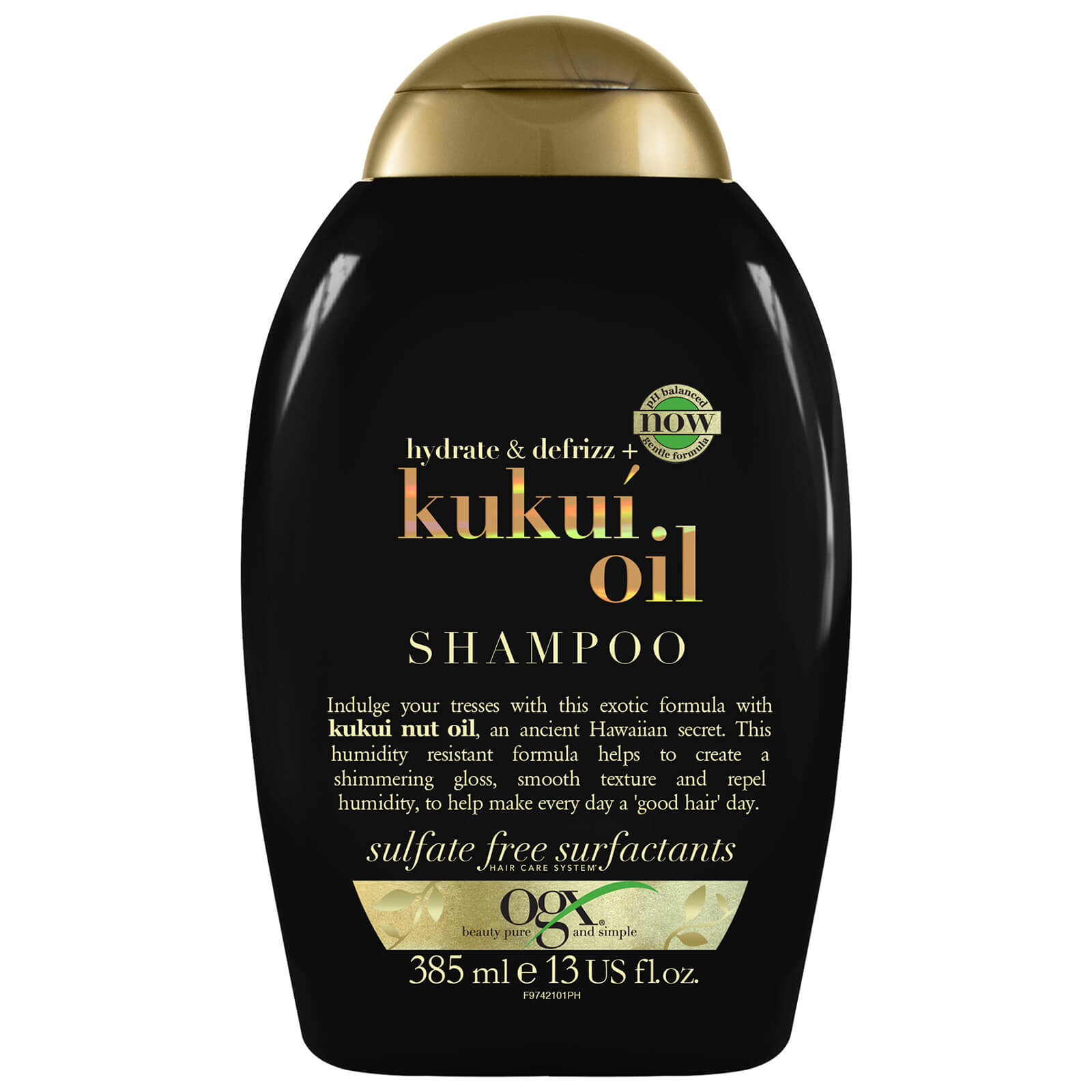 Купить OGX Hydrate & Defrizz+ Kukui Oil Shampoo 385ml