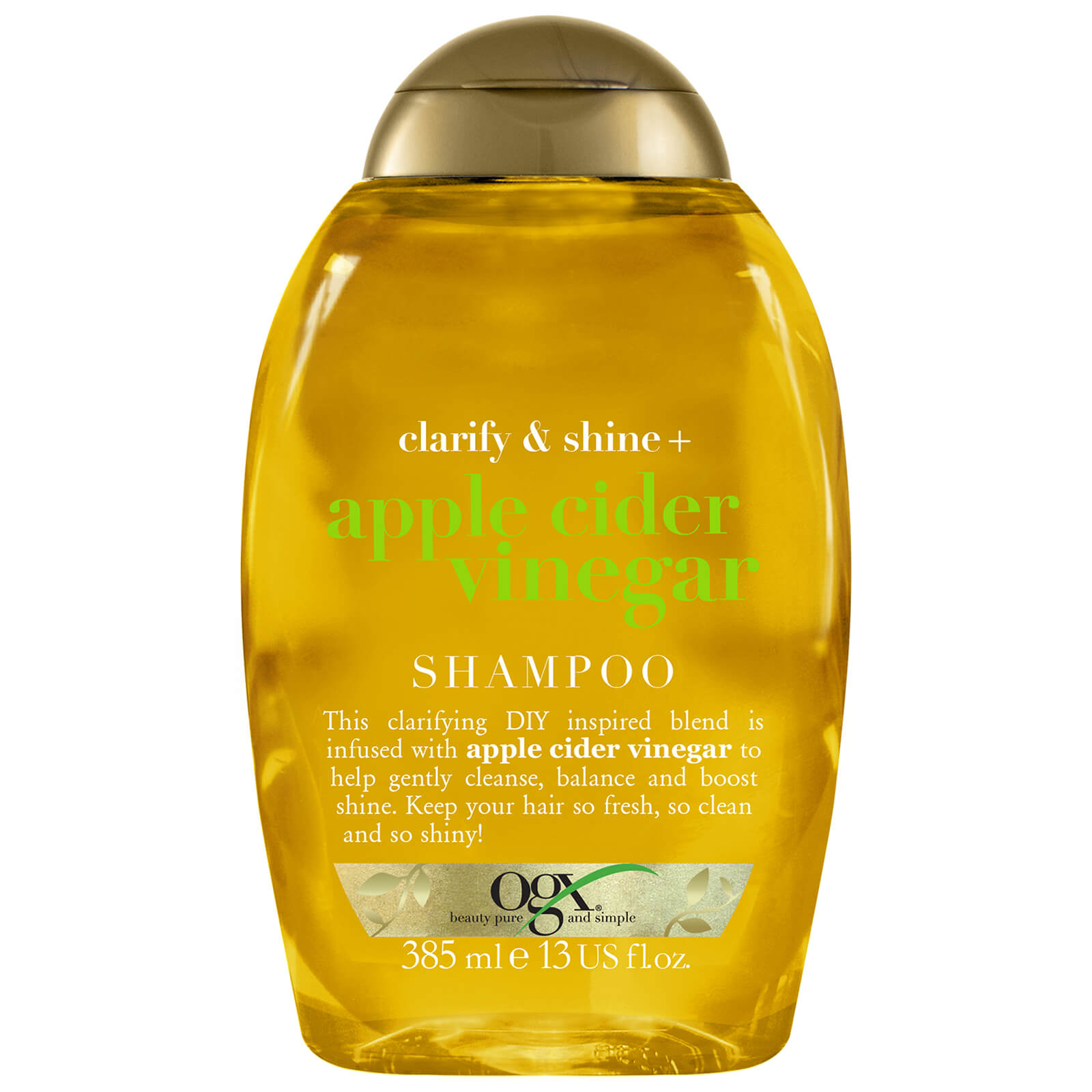 Купить OGX Clarify & Shine+ Apple Cider Vinegar Shampoo 385ml