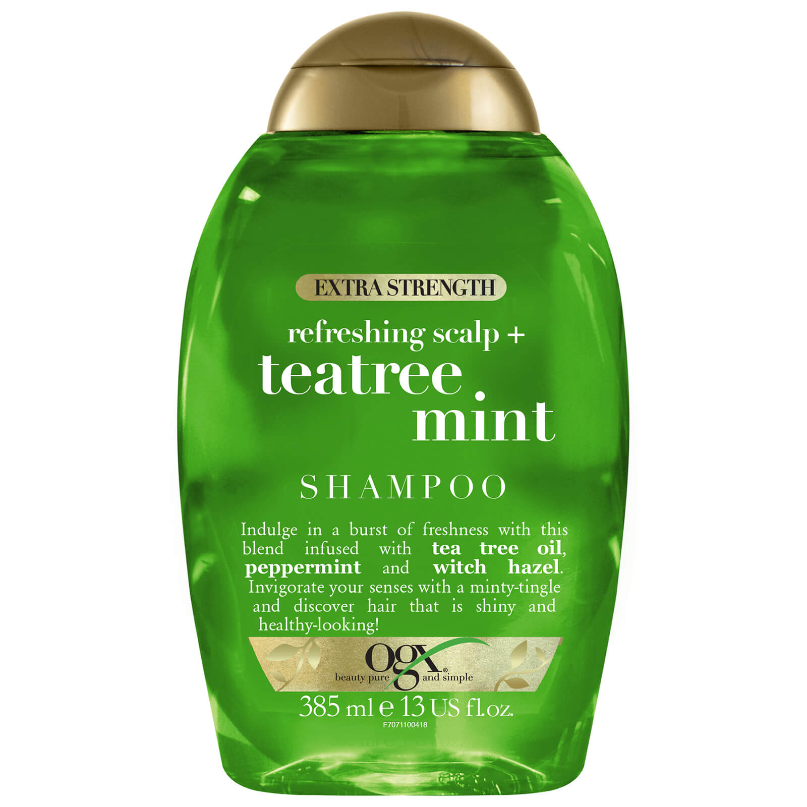 Купить OGX Refreshing Scalp+ Teatree Mint Extra Strength Shampoo 385ml