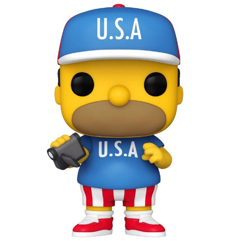 The Simpsons USA Homer Pop! Vinyl Figure