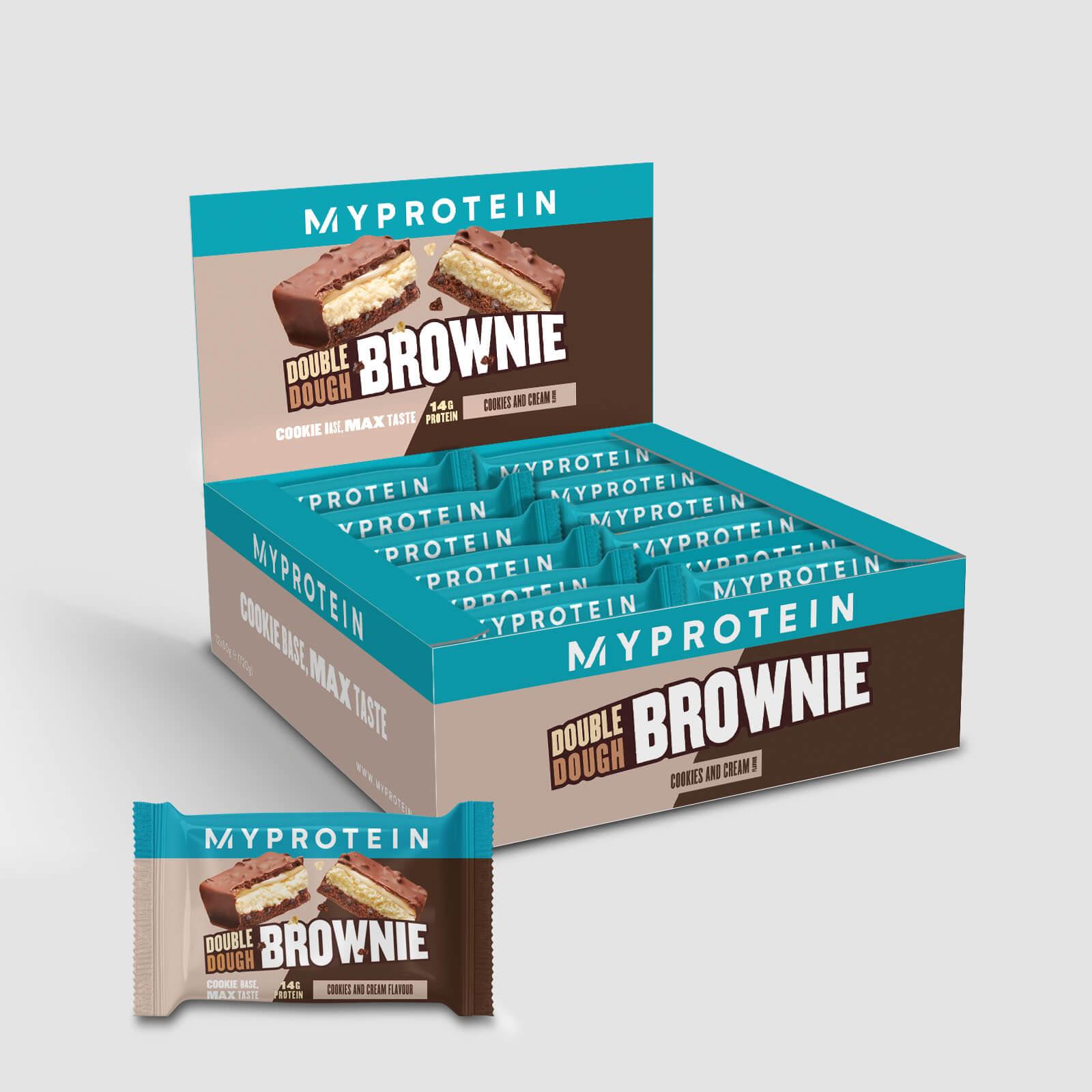 Double Dough Brownie - 12 x 60g - Cookies et crème