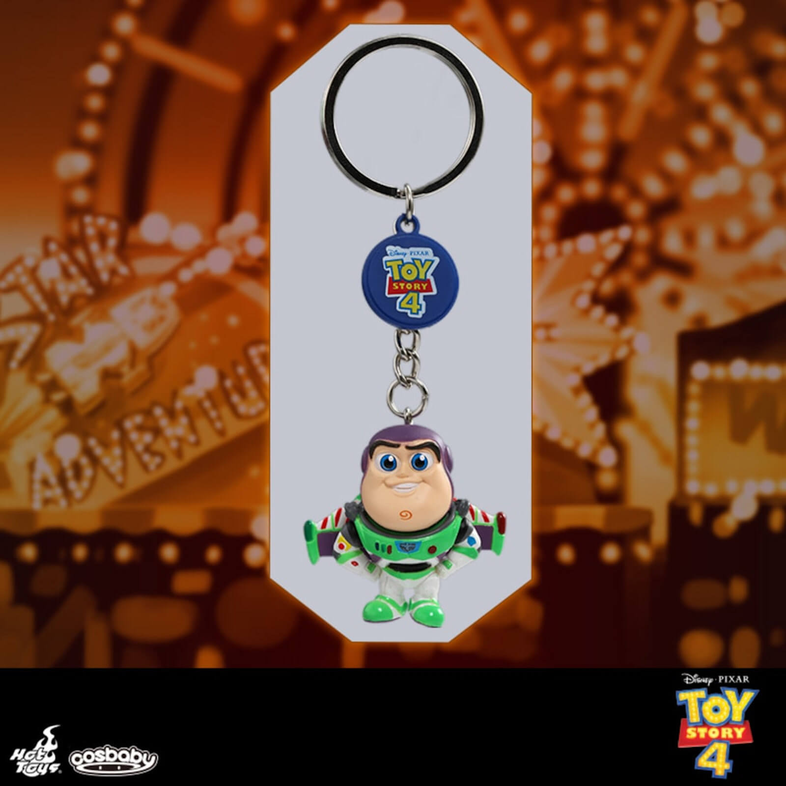 Image of Hot Toys Cosbaby Toy Story 4 Buzz Lightyear Keychain